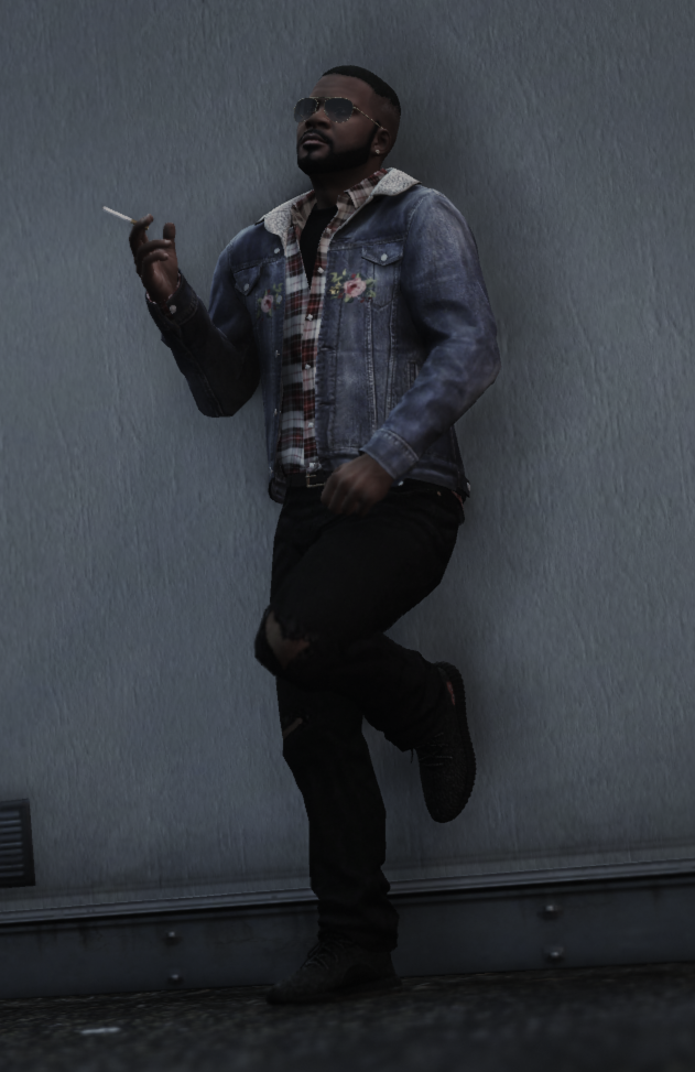 Franklin - Outfit (Ripped Jeans - Gucci Jacket - Yeezy x CDG) - GTA5-Mods.com