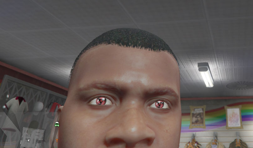 Franklin Mangekyou Sharingan Eyes Gta5 Mods Com