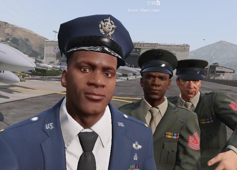 Franklin USAF Dress Uniform - US AIR FORCE - GTA5-Mods com