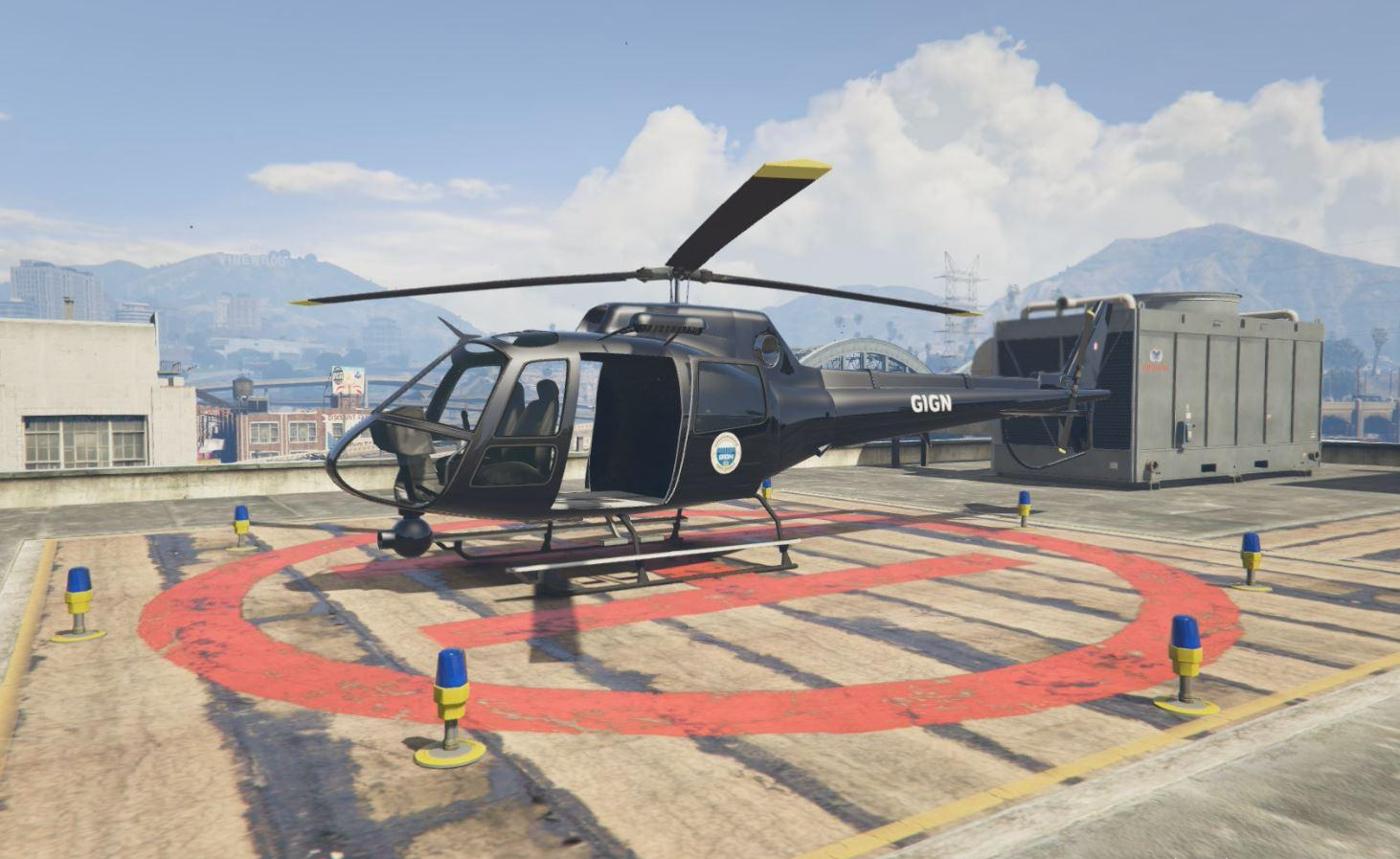 Elicottero Gta 5 : French gendarmerie hélicoptère gign gta mods