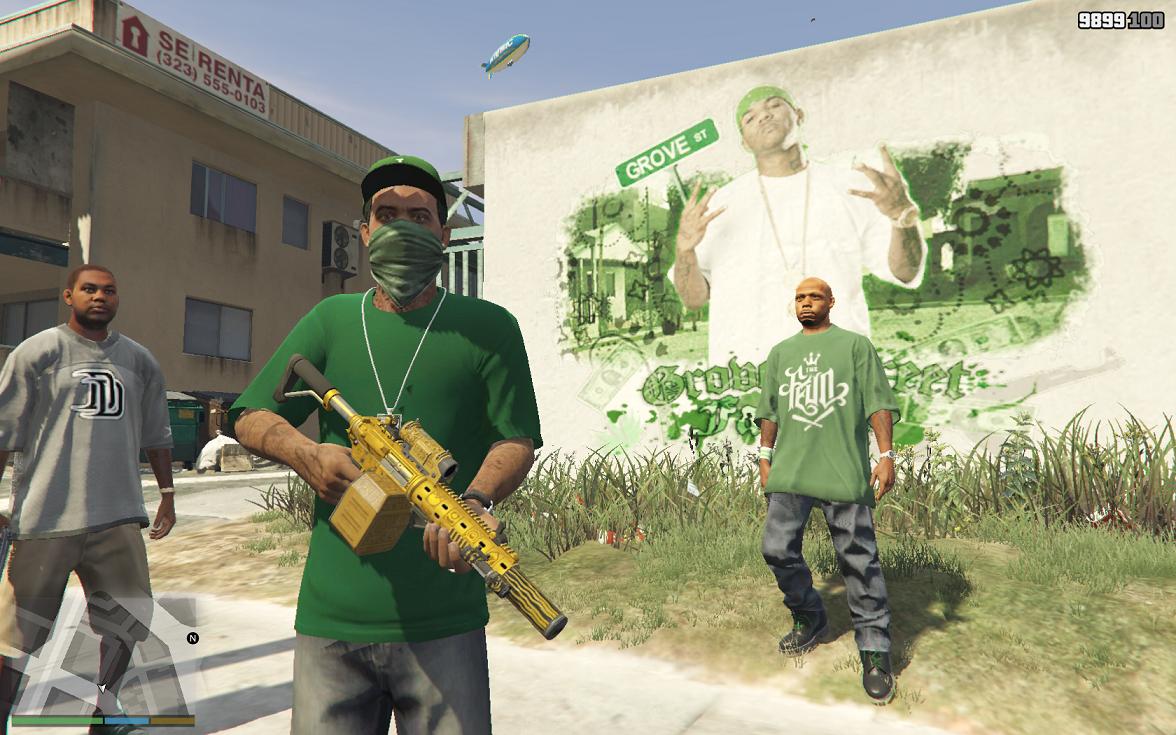 Grove Street Families New Graffiti Gta5 Mods Com