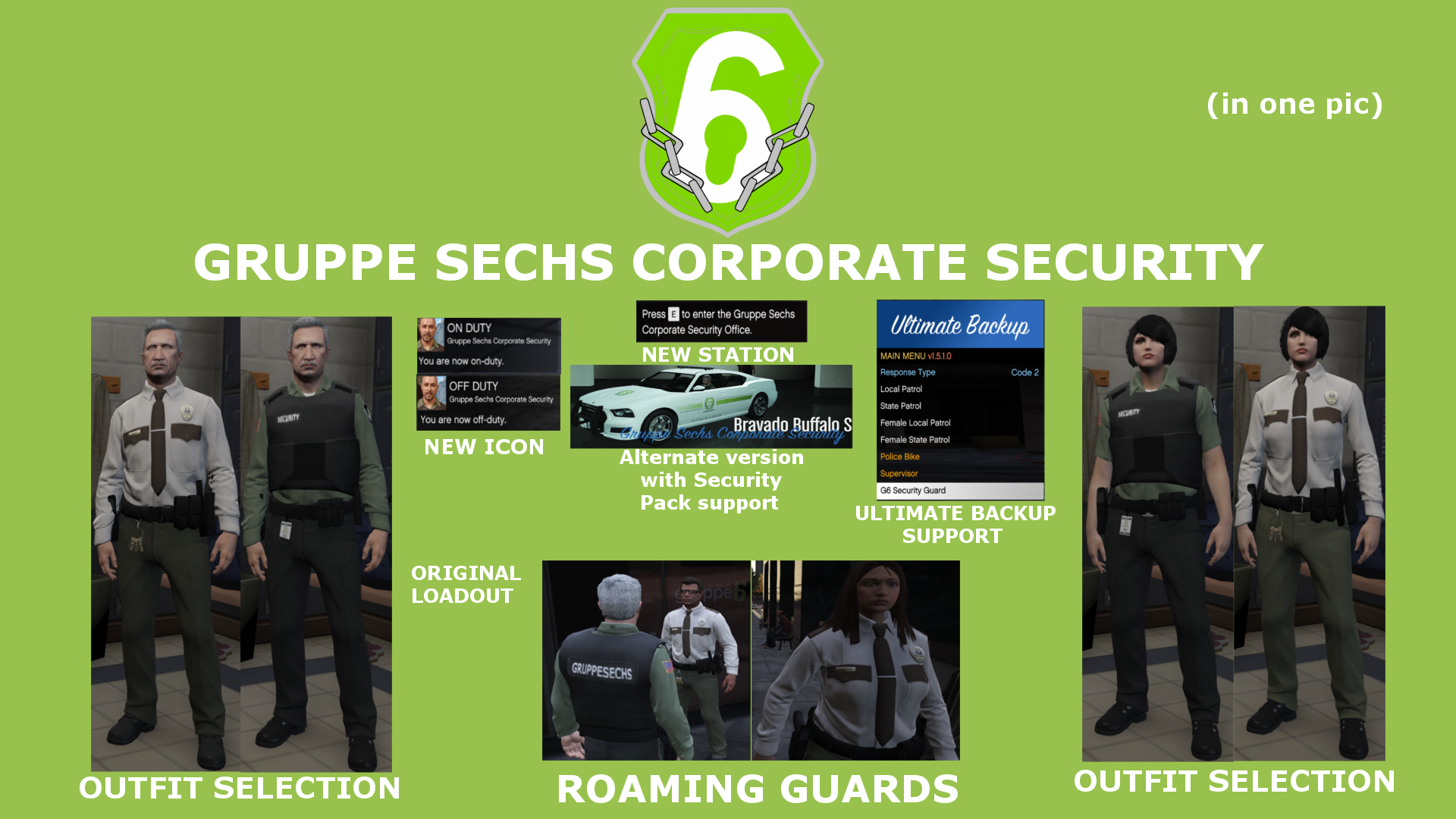Gruppe Sechs Corporate Security [AGENCY] [LSPDFR 4 1] - GTA5