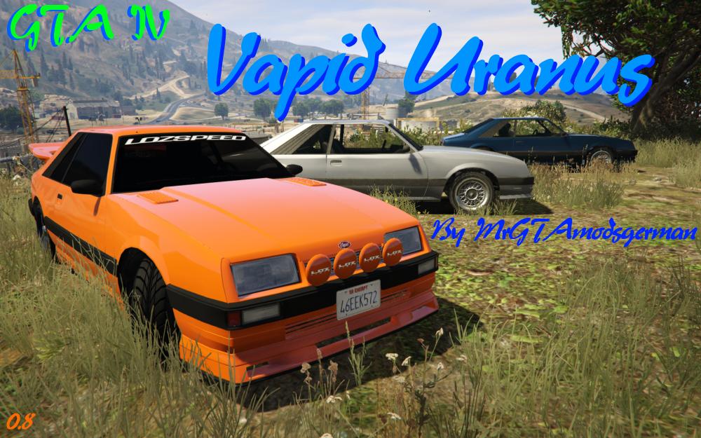 GTA IV Vapid Uranus + Tuning Parts - GTA5-Mods com