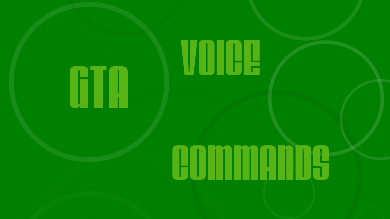 C Gta Voice Commands