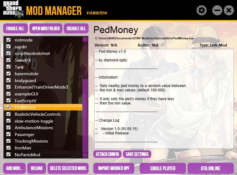 GTAV Mod Manager - GTA5-Mods.com