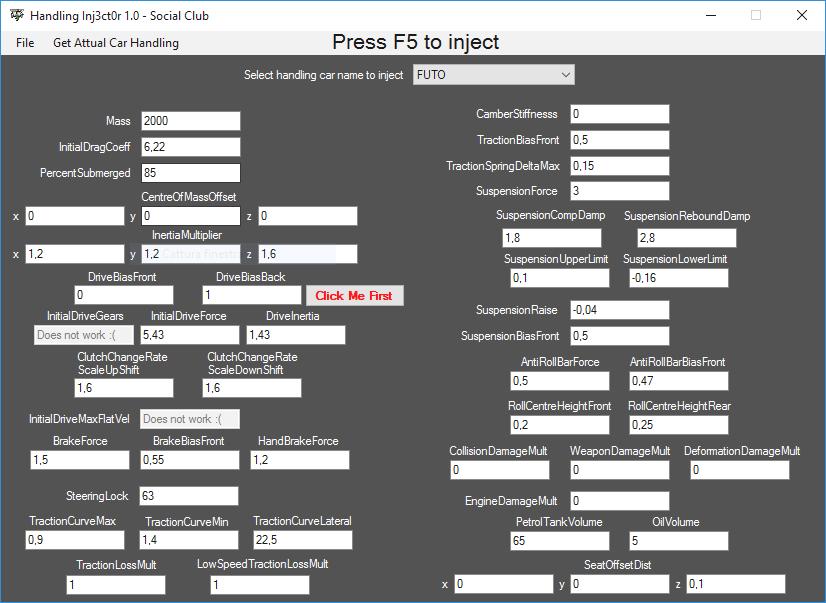 Handling Injector - GTA5-Mods com
