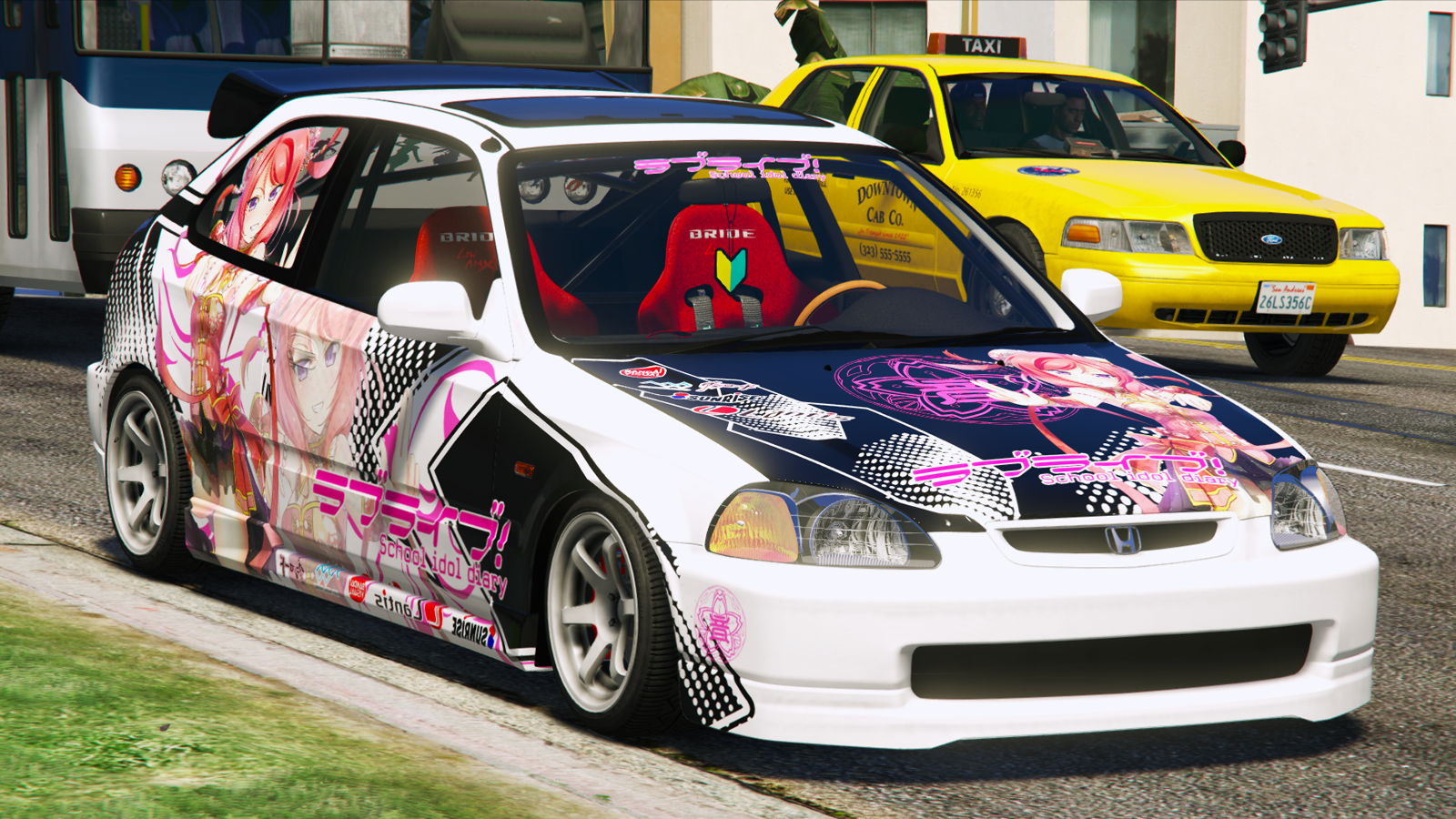 Honda civic type r ek9 painting maki nishikino gta5 for Honda civic ek9