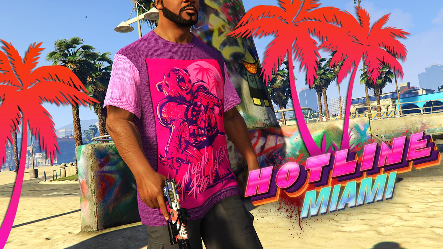 hotline miami t shirt for franklin gta5 mods com
