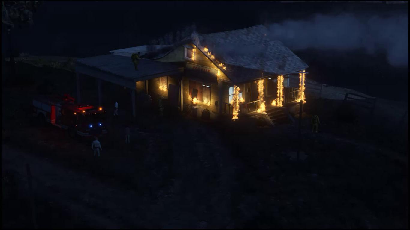 House On Fire Near San Chainski Mountain Range [Menyoo / Map Editor]    GTA5 Mods.com