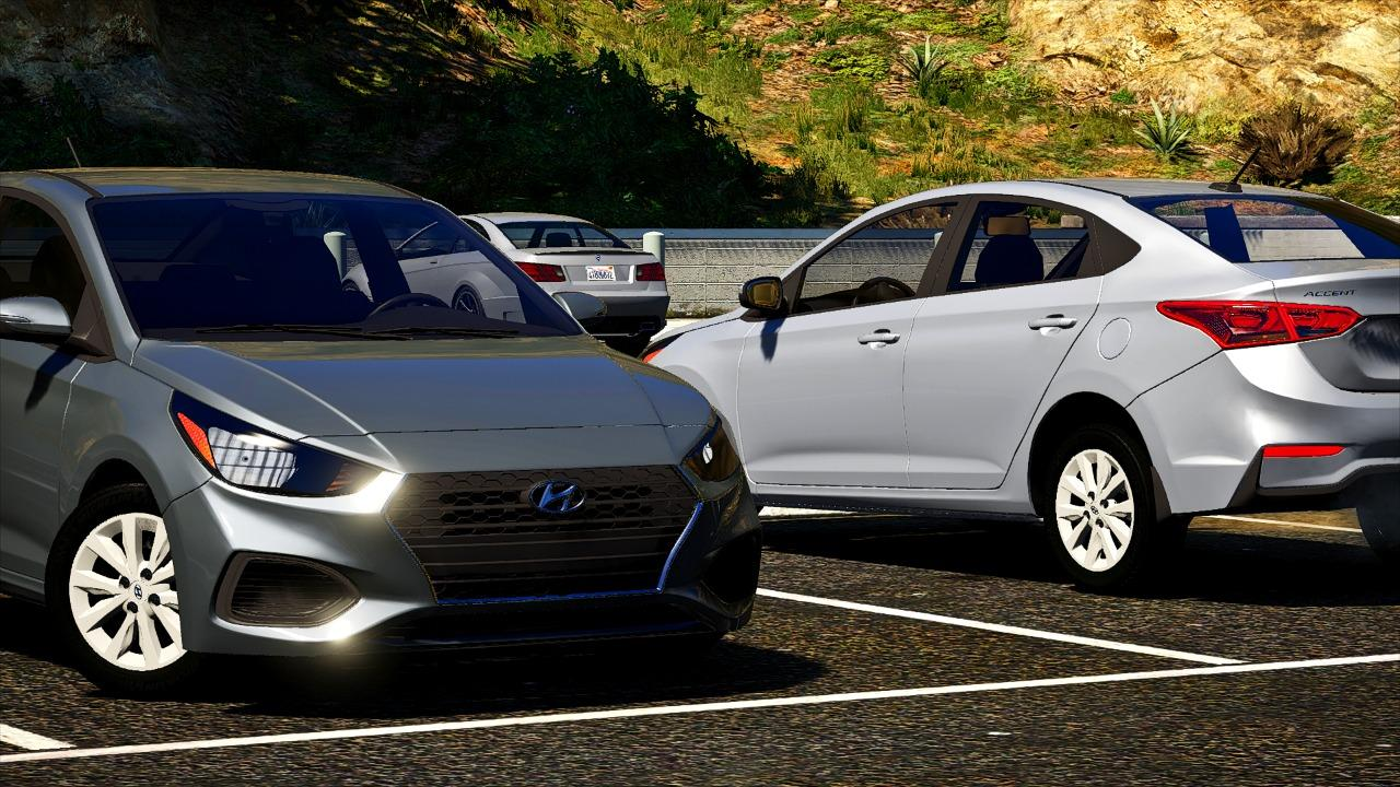 Hyundai Accent 2018 Se 3 Versions Replace Gta5 Mods Com
