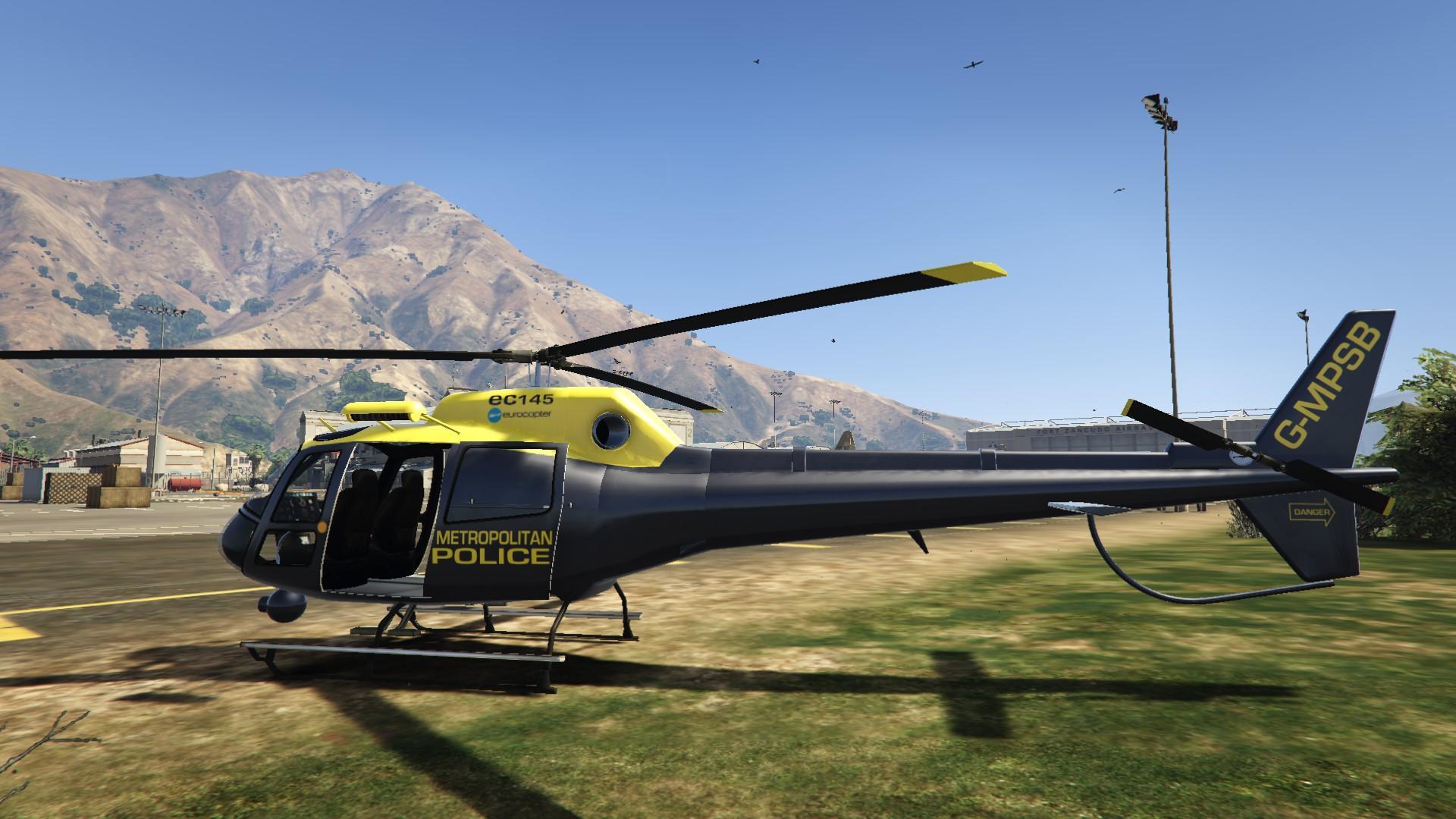 Elicottero Gta 5 : India british metropolitan police helicopter gta