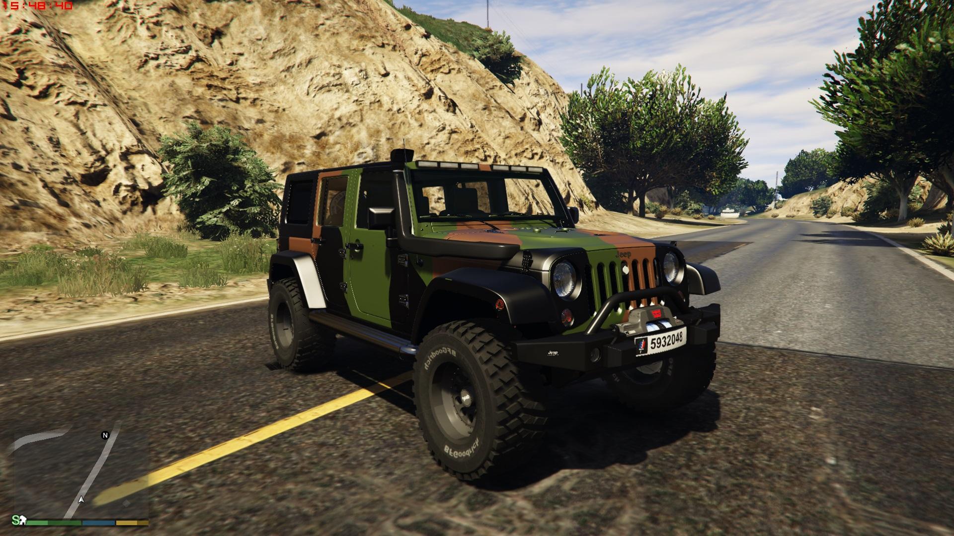 """job-033_Jeep wrangler 2014 french """"armée de terre"""" - GTA5-Mods.com"""