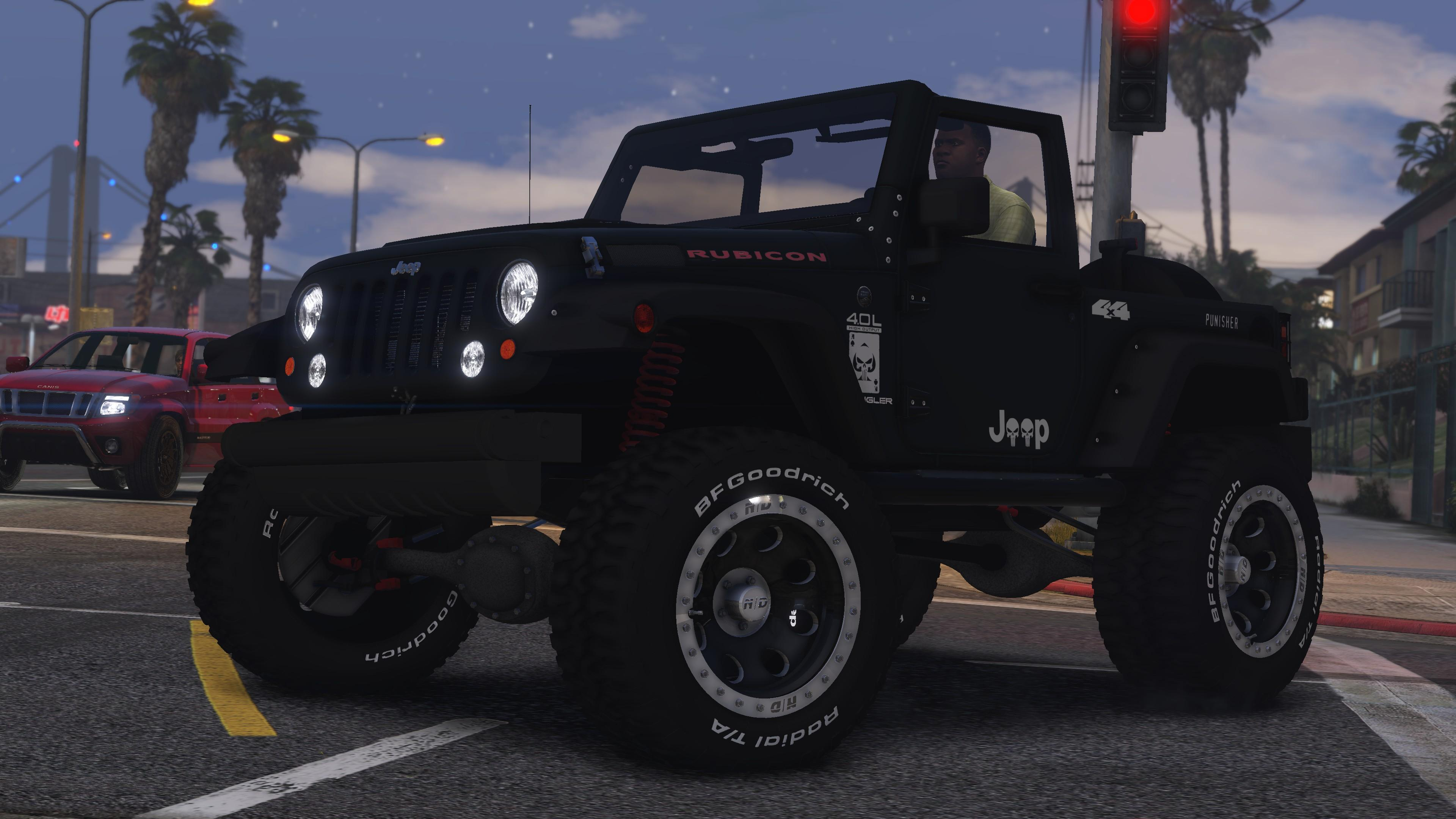 jeep wrangler rubicon hq tuning livery gta5. Black Bedroom Furniture Sets. Home Design Ideas