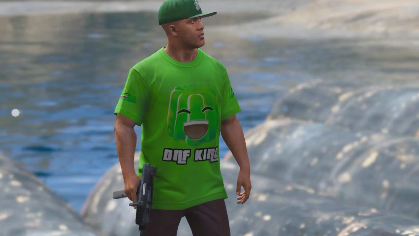 jelly youtube shirt for franklin gta5. Black Bedroom Furniture Sets. Home Design Ideas