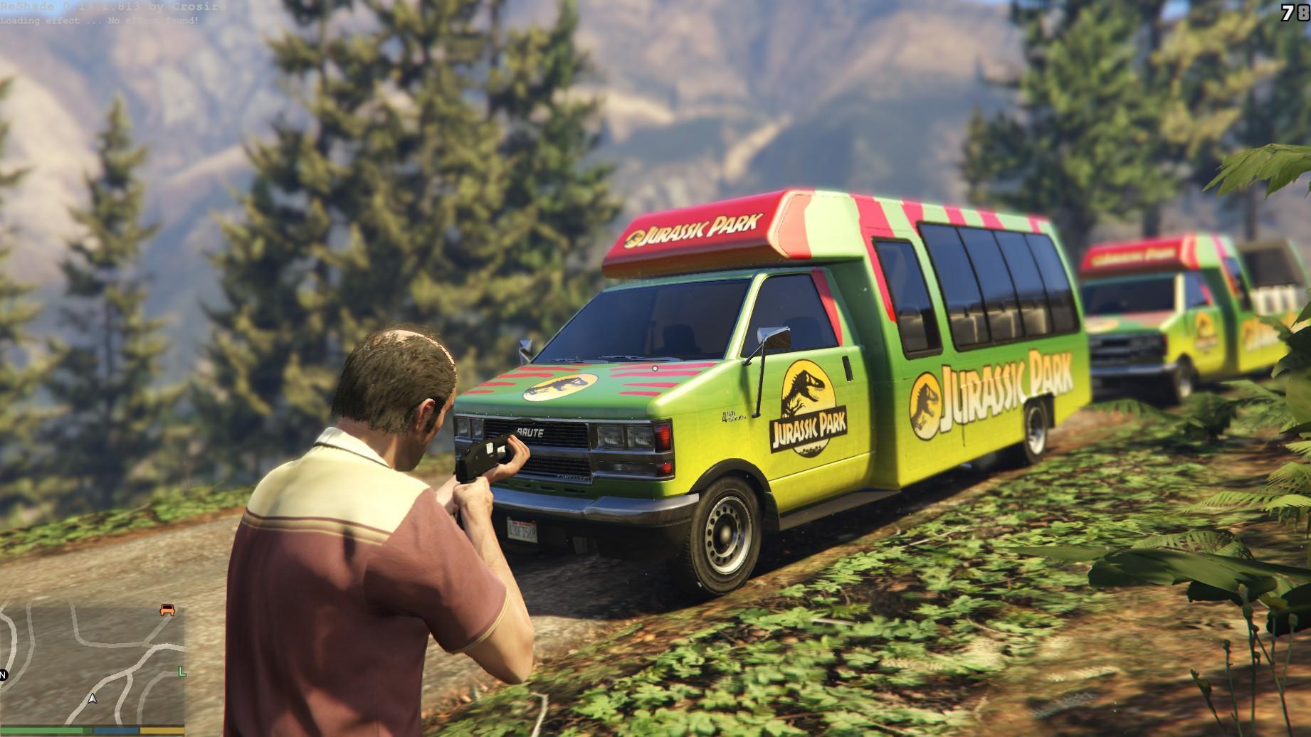 Jurassic Park Tour Bus Gta5 Mods Com