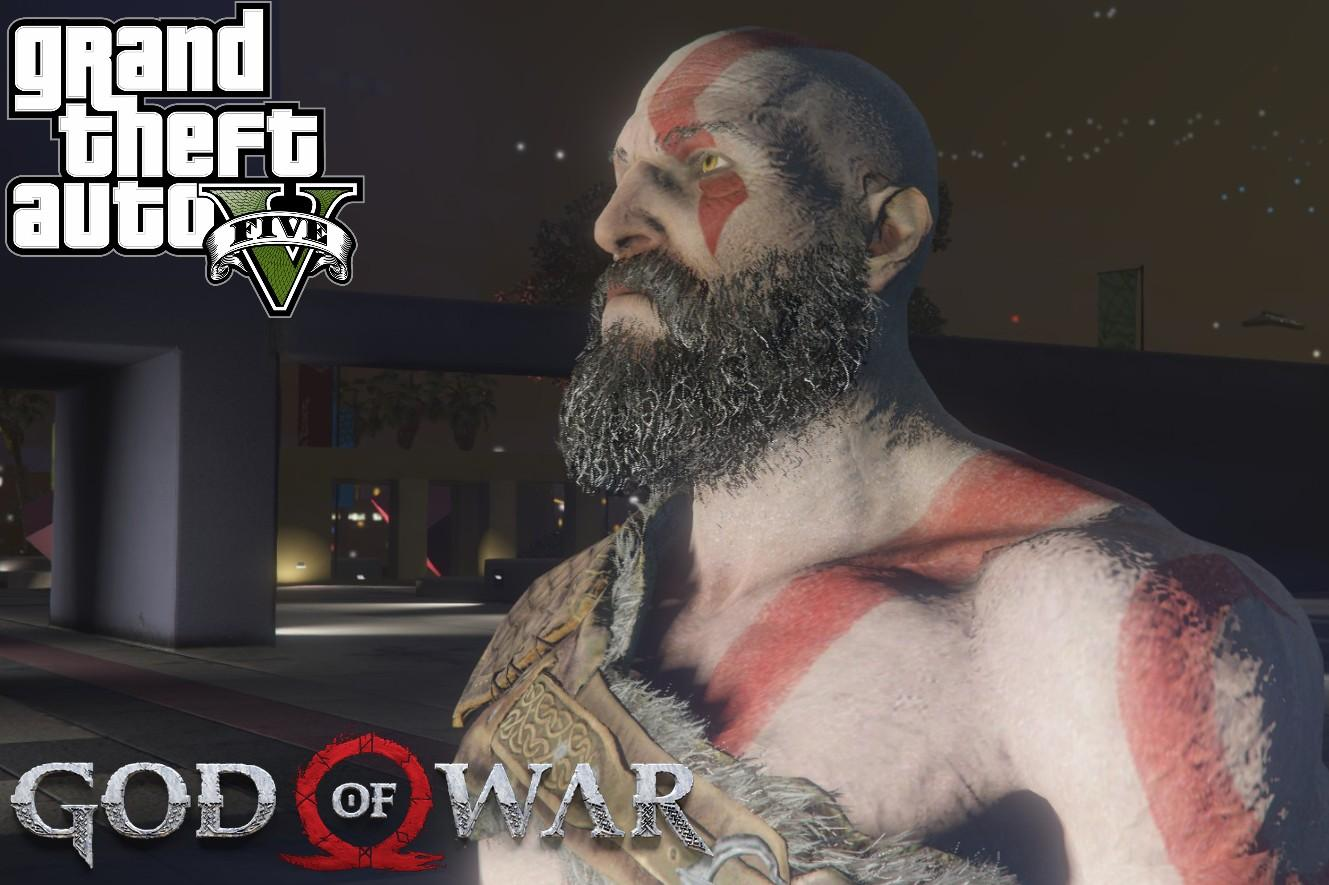 Kratos The God Of War Gta5 Mods Com