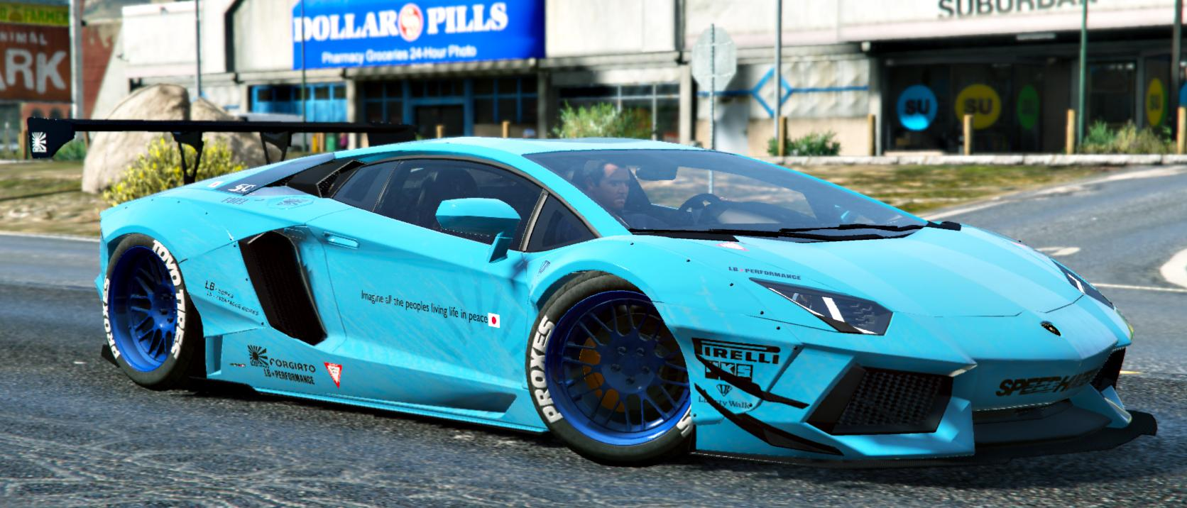100 Blue Galaxy Lamborghini Photo Collection