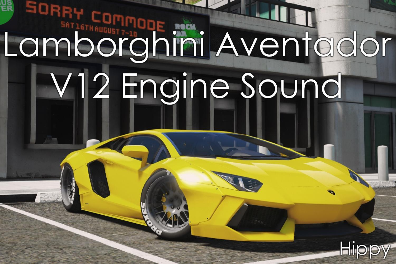 lamborghini aventador v12 engine sound gta5. Black Bedroom Furniture Sets. Home Design Ideas