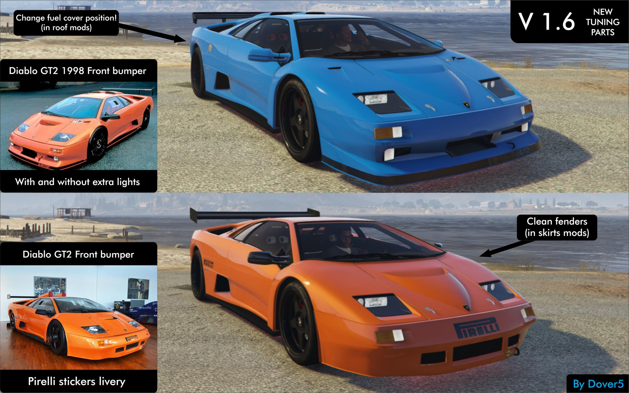 lamborghini diablo gtr add on tuning template gta5. Black Bedroom Furniture Sets. Home Design Ideas