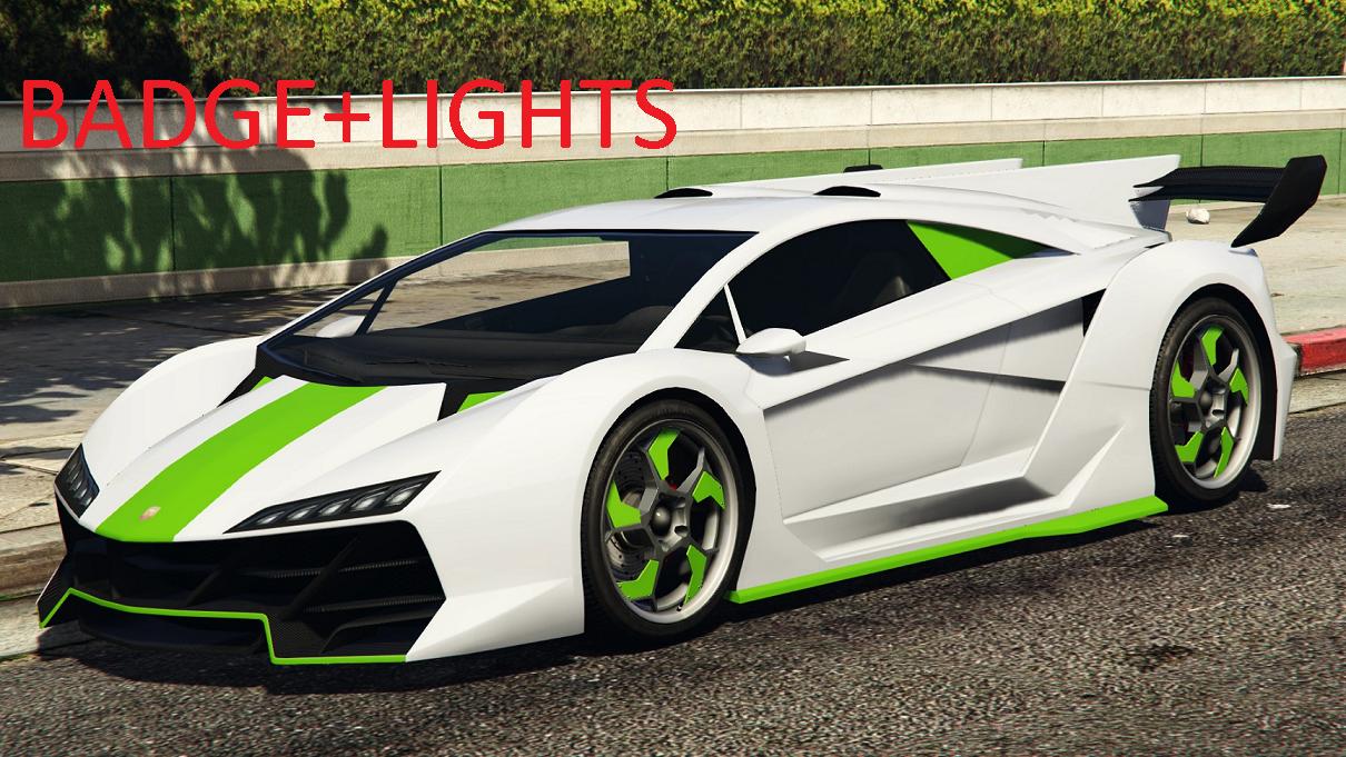 Koenigsegg Ccxr Trevita >> Lamborghini Sesto elemento [badge+lights] by clyde - GTA5-Mods.com