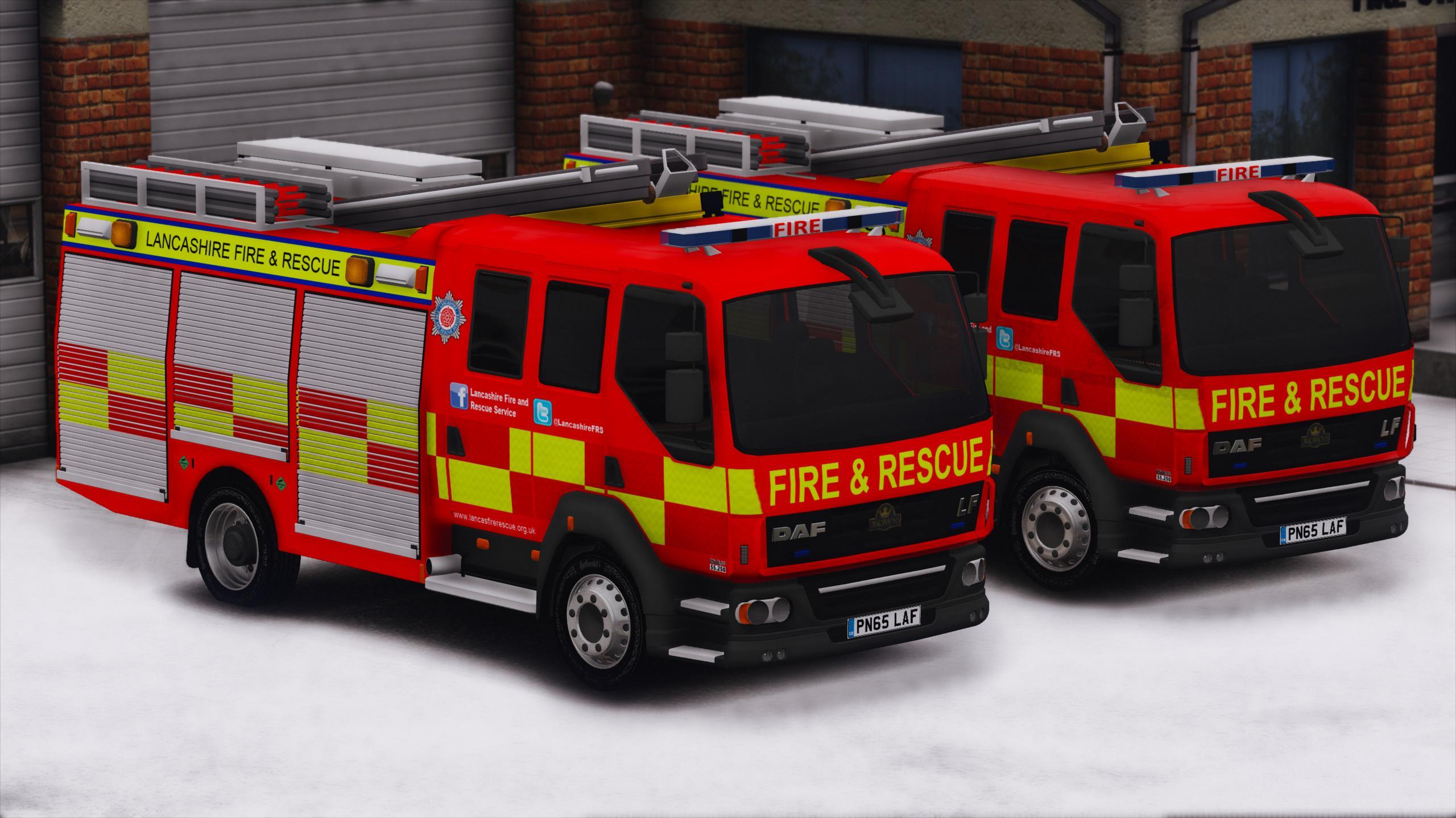 Lancashire Fire Amp Rescue Appliance Els Gta5 Mods Com