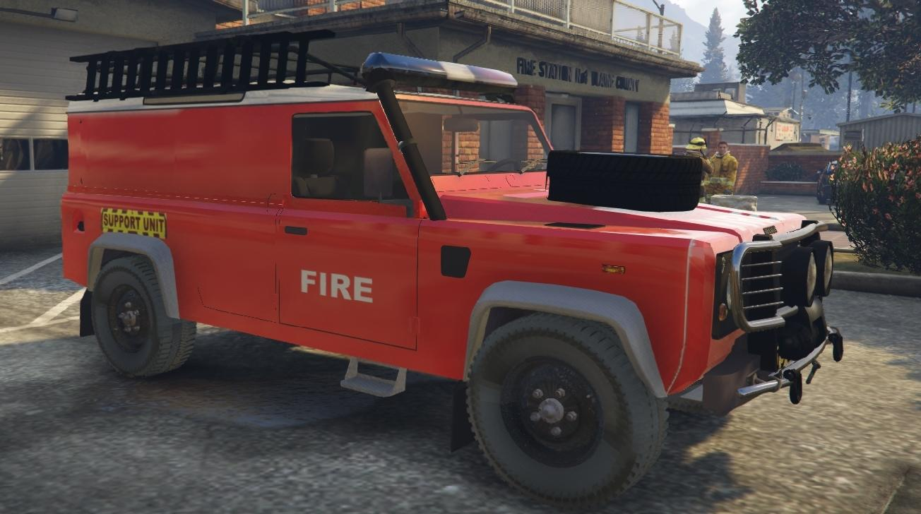land rover 110 workshop fire support vehicle gta5. Black Bedroom Furniture Sets. Home Design Ideas