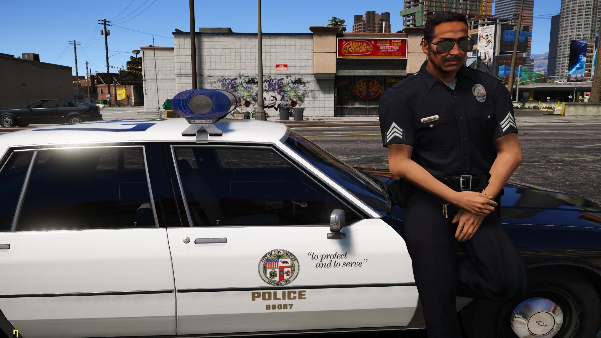 lapd 1980s retro officer gta5. Black Bedroom Furniture Sets. Home Design Ideas