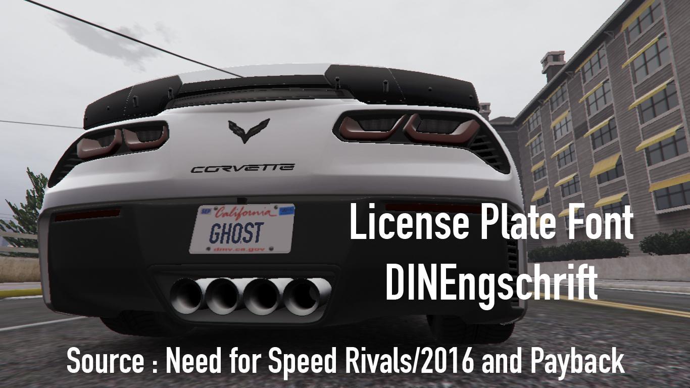License Plate Font Dinengschrift Gta5 Mods Com