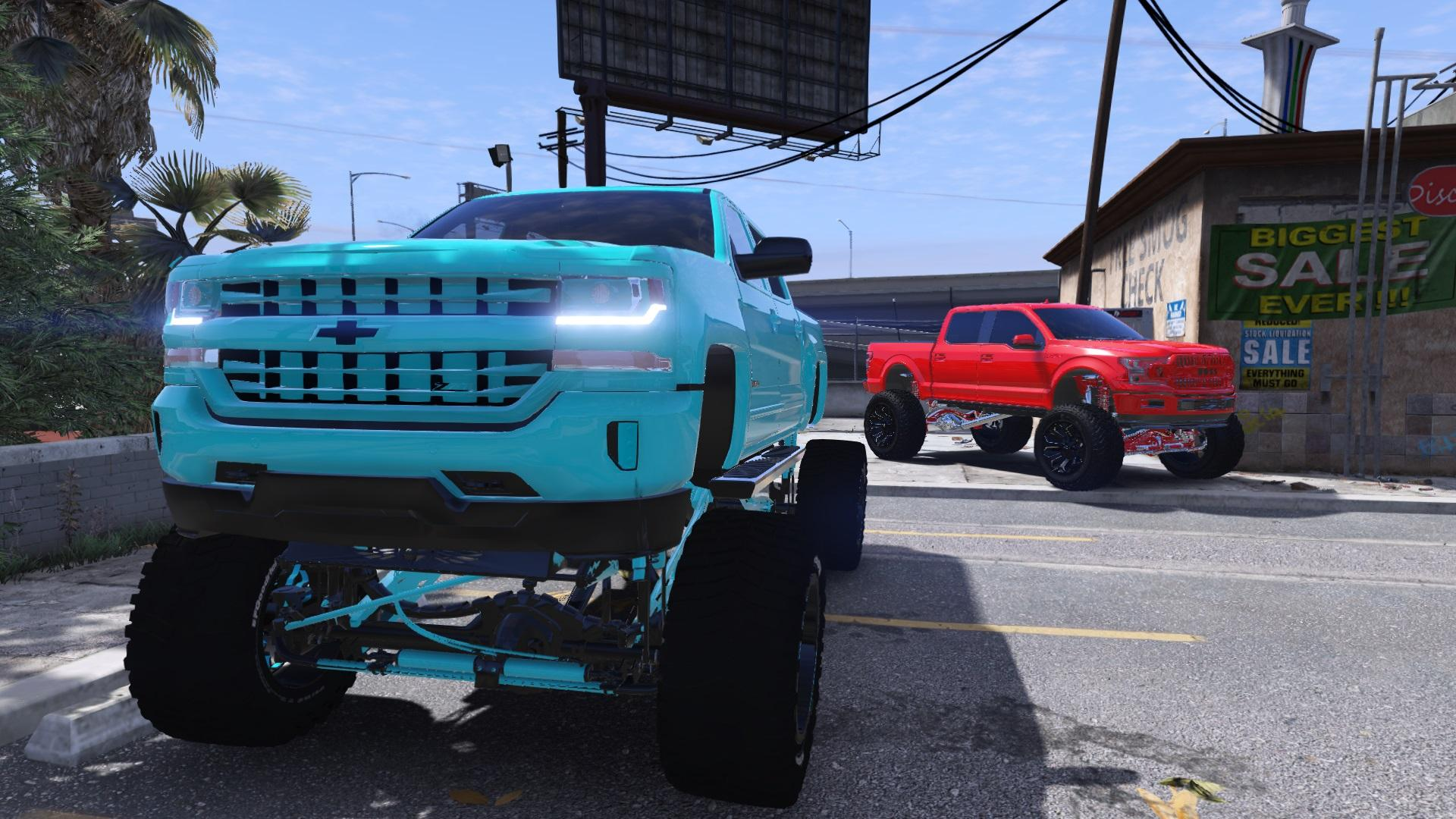 2018 Lifted Jeep >> Lifted Chevy Silverado [ADDON][BETA] - GTA5-Mods.com