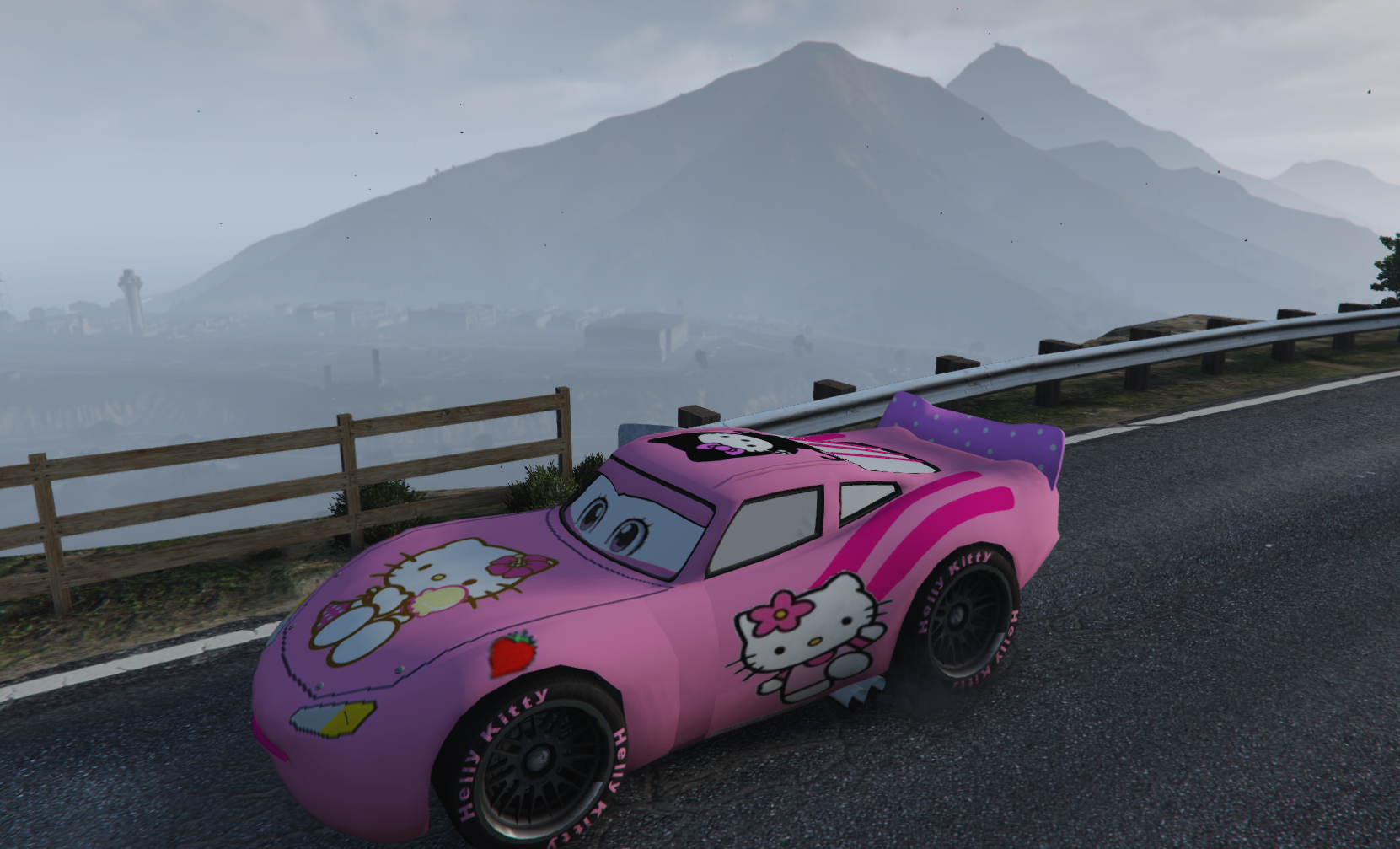 lightning mcqueen pink hello kitty skin gta5. Black Bedroom Furniture Sets. Home Design Ideas