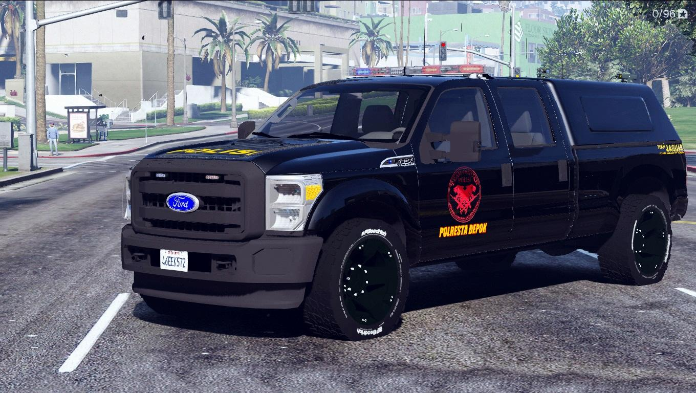 Indonesian Police Team Jaguar Livery for Ford F350 - GTA5 ...