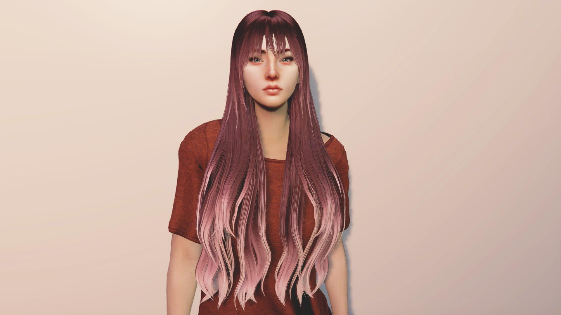 Long Haircut With Highlights For Mp Female Gta5 Mods Com