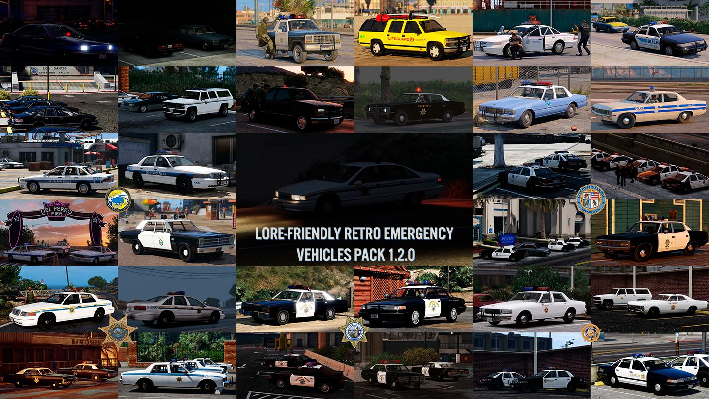lore friendly retro emergency vehicles pack gta5. Black Bedroom Furniture Sets. Home Design Ideas