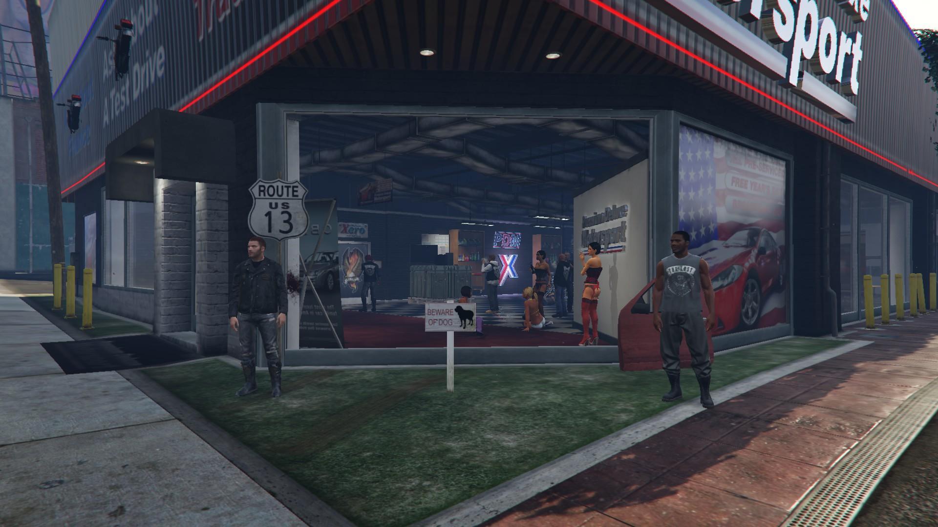 Lost mc garage hq gta5 for Garajes gta v online