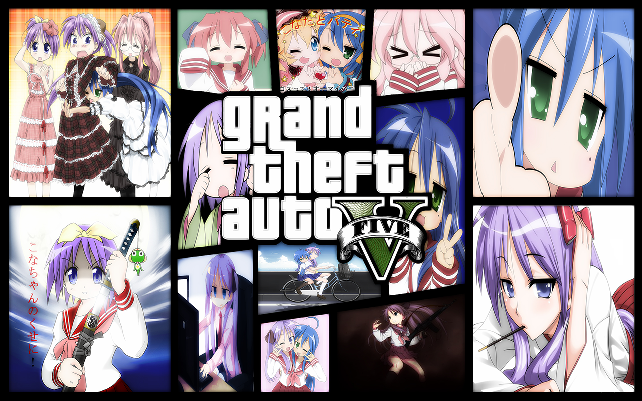 lucky star hd theme and loading music - gta5-mods