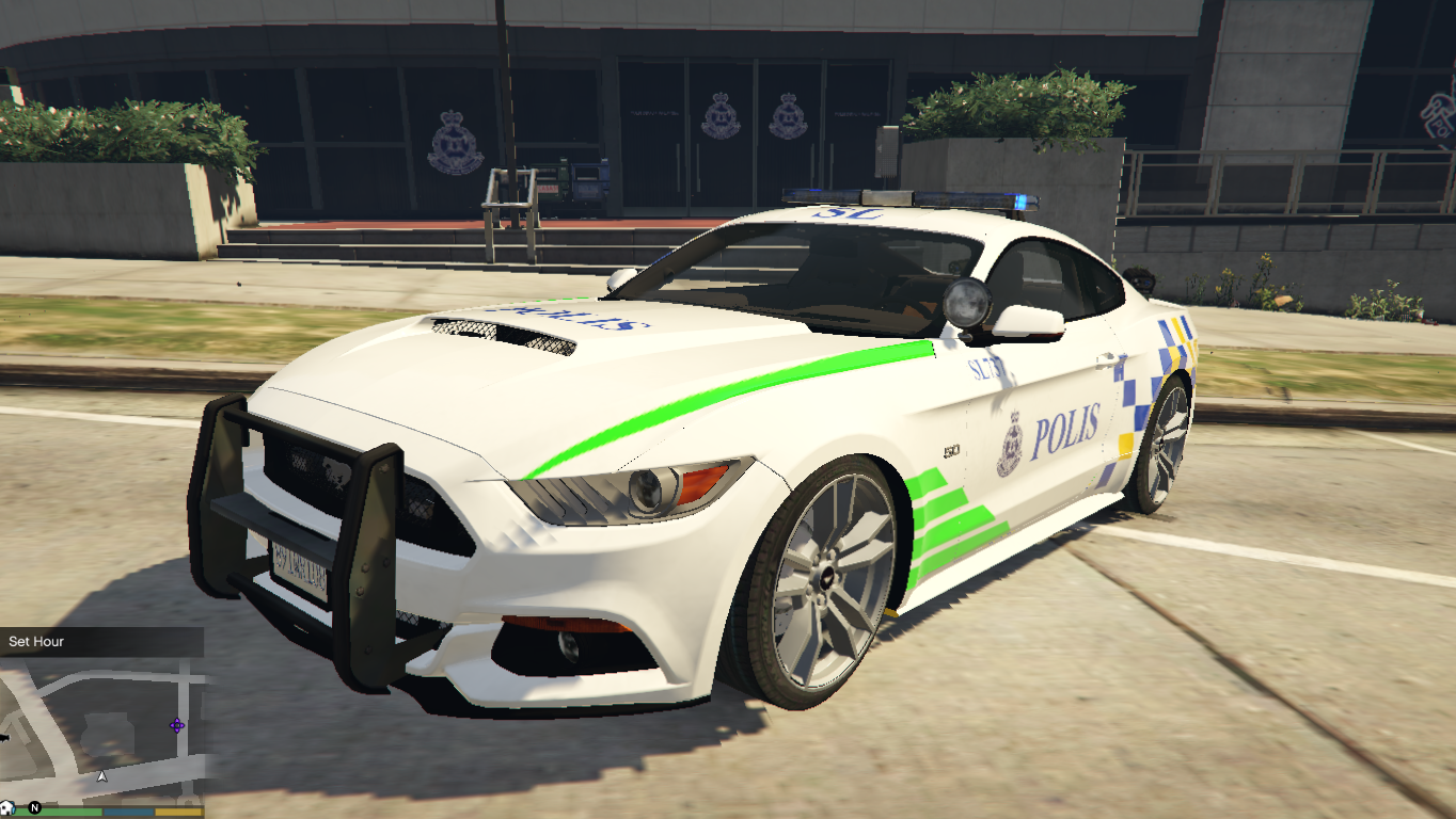 malaysia police pdrm ford mustang 2015 gta5. Black Bedroom Furniture Sets. Home Design Ideas
