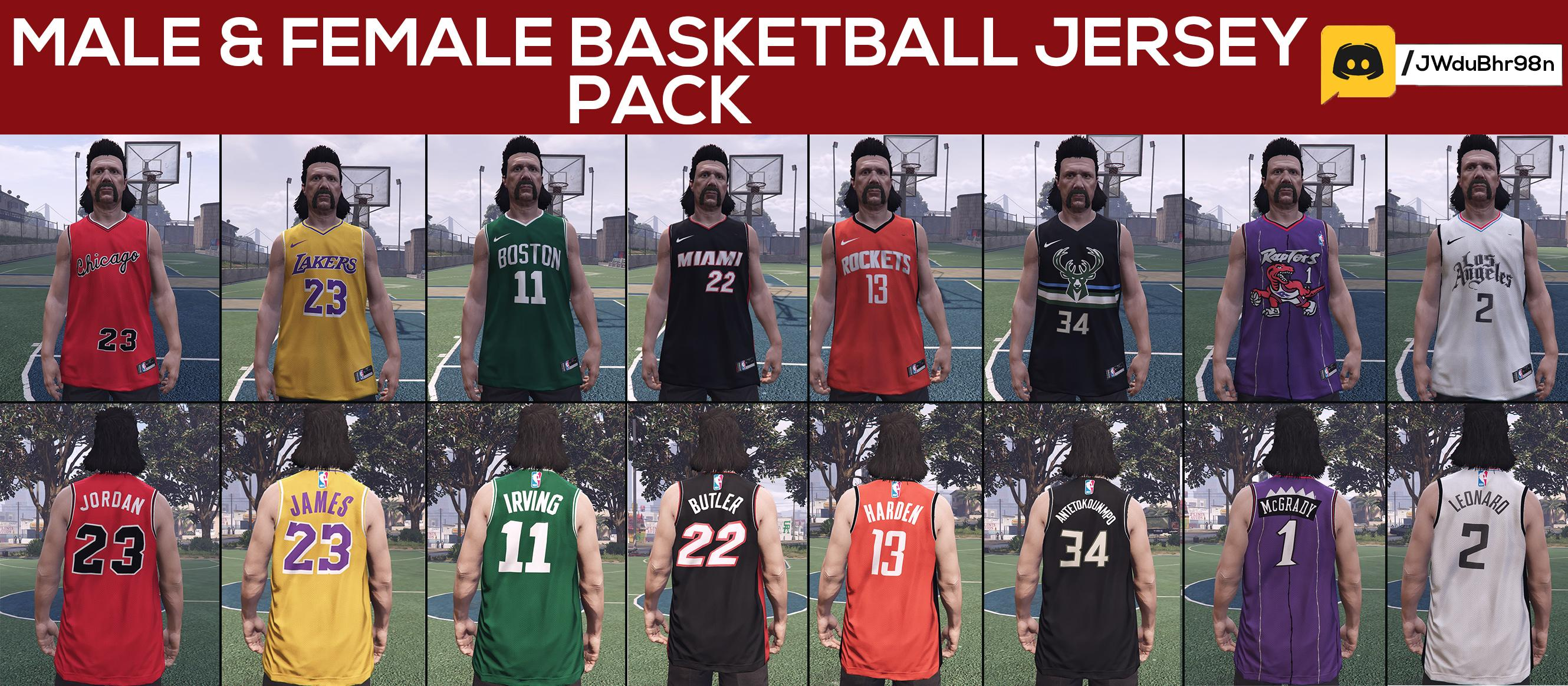 Male & Female Basketball Jersey Pack - GTA5-Mods.com
