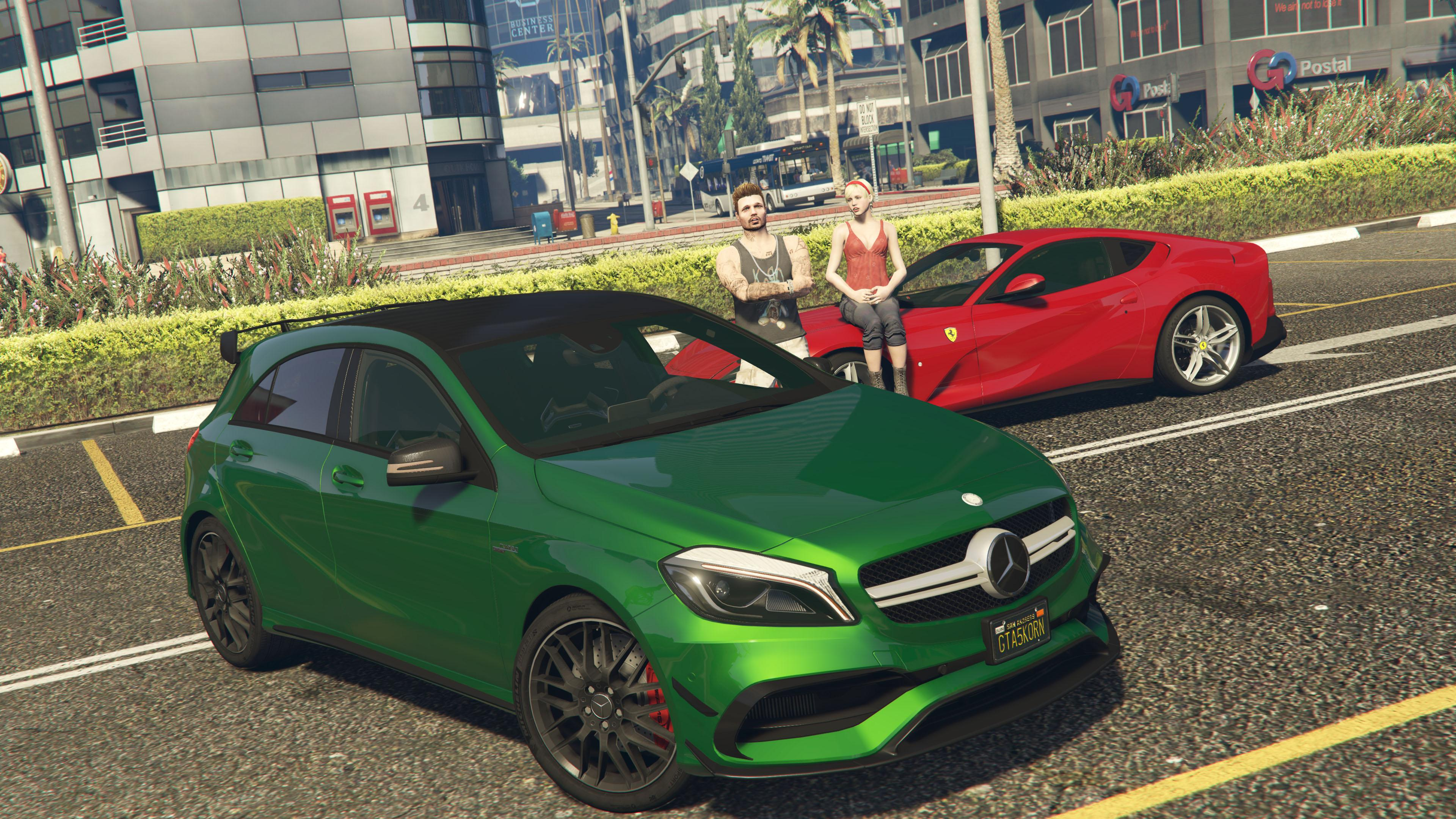 2017 mercedes amg a45 w176 add on replace gta5. Black Bedroom Furniture Sets. Home Design Ideas