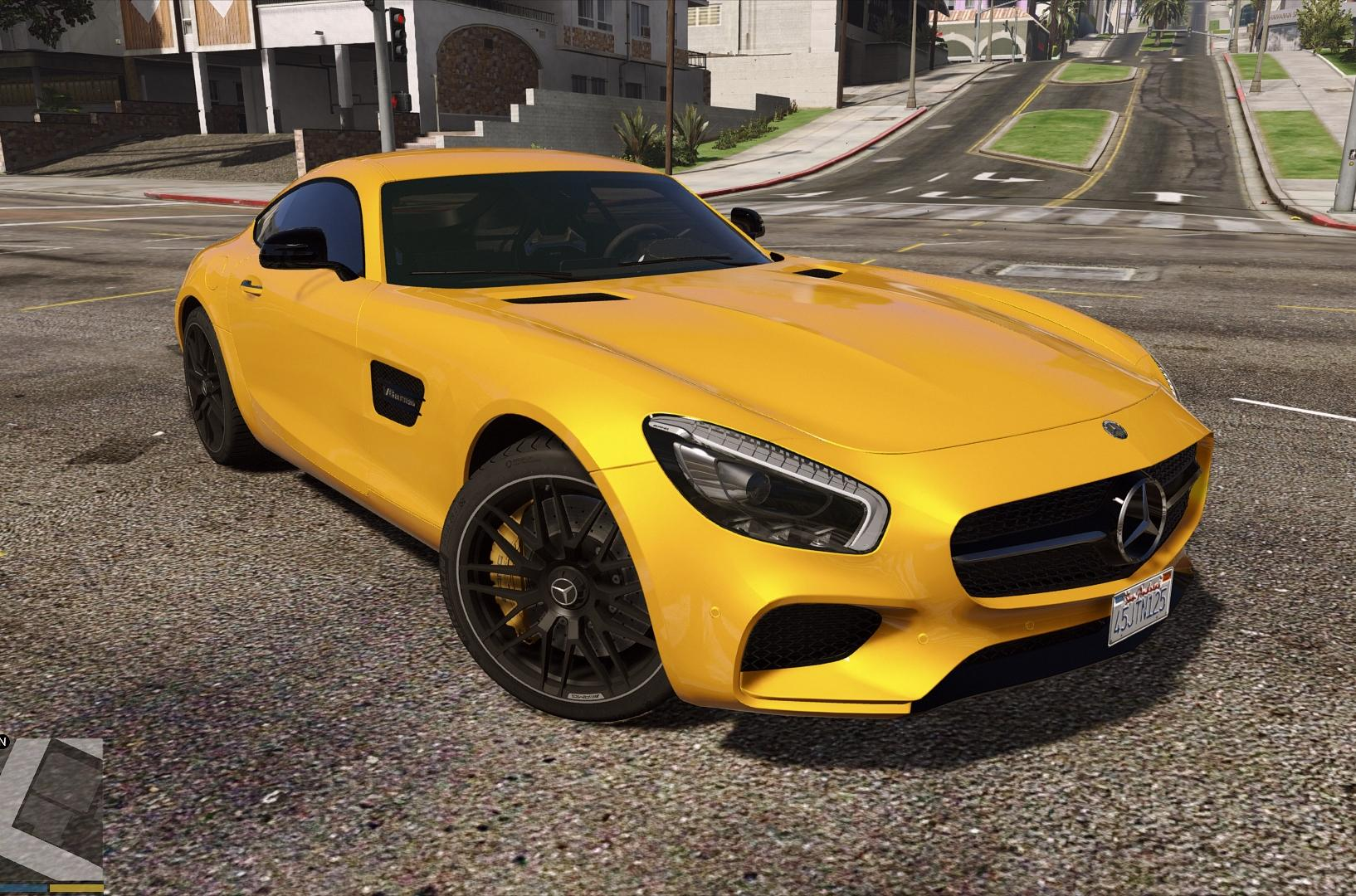 mercedes amg gt s add on auto spoiler gta5. Black Bedroom Furniture Sets. Home Design Ideas
