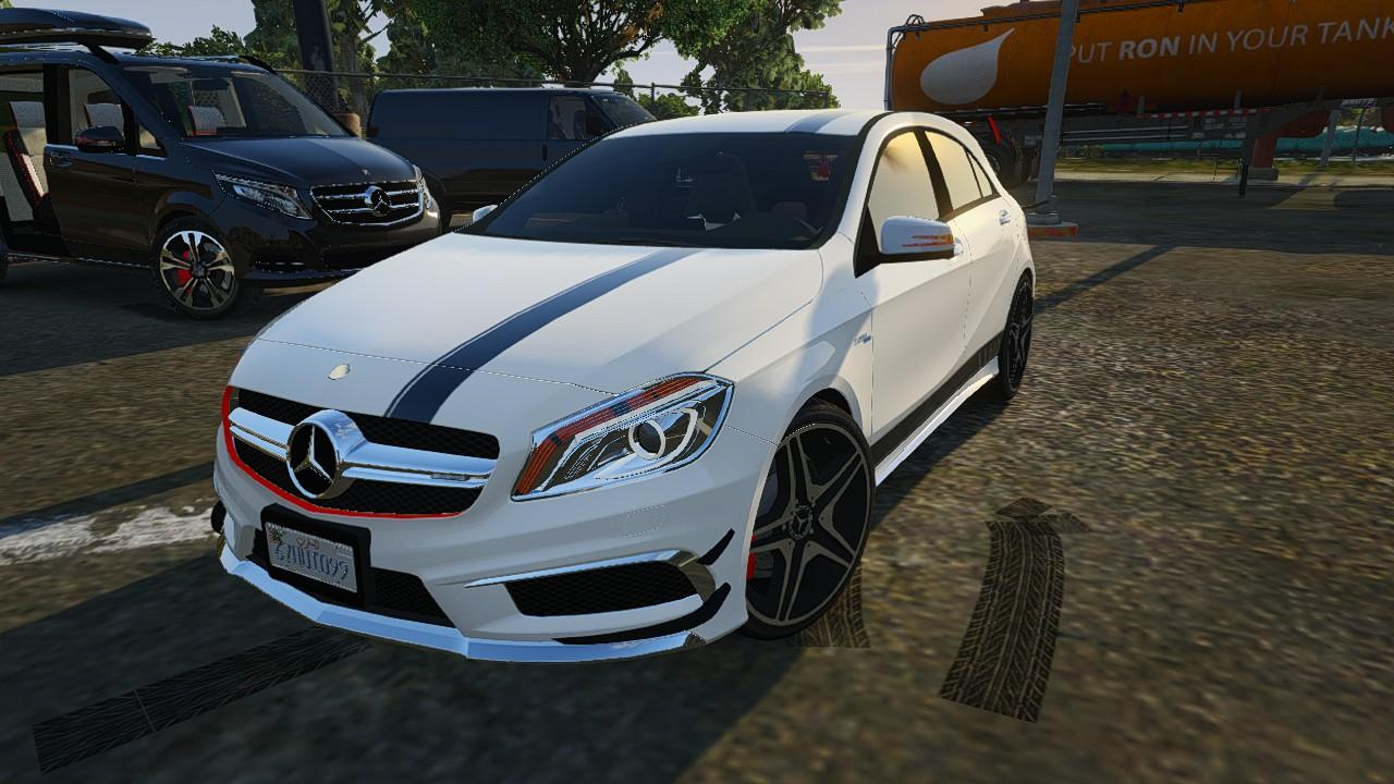 2012 mercedes benz a45 amg templated digital dials livery add on gta5. Black Bedroom Furniture Sets. Home Design Ideas