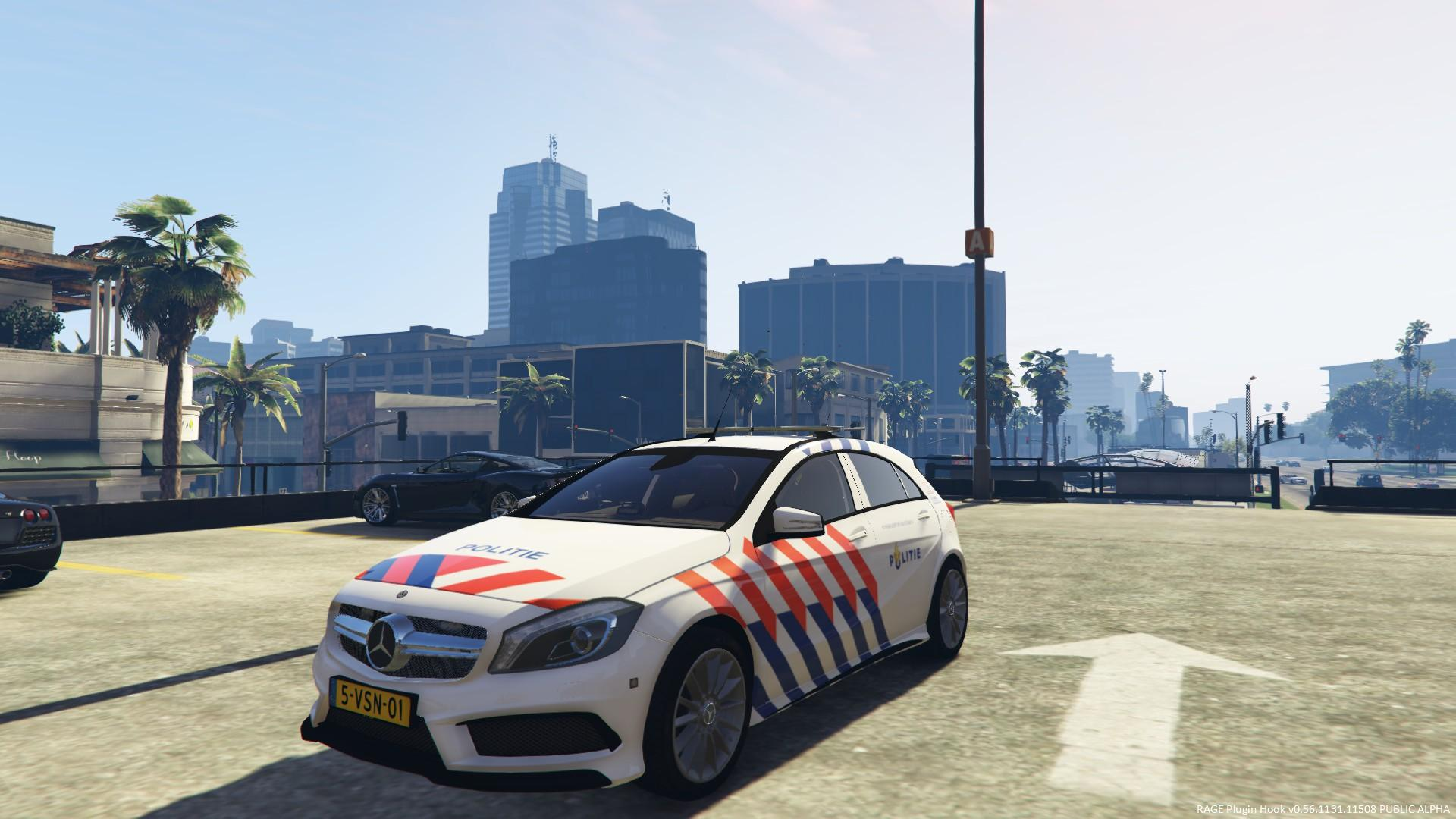 mercedes benz amg a45 politie auto els gta5. Black Bedroom Furniture Sets. Home Design Ideas