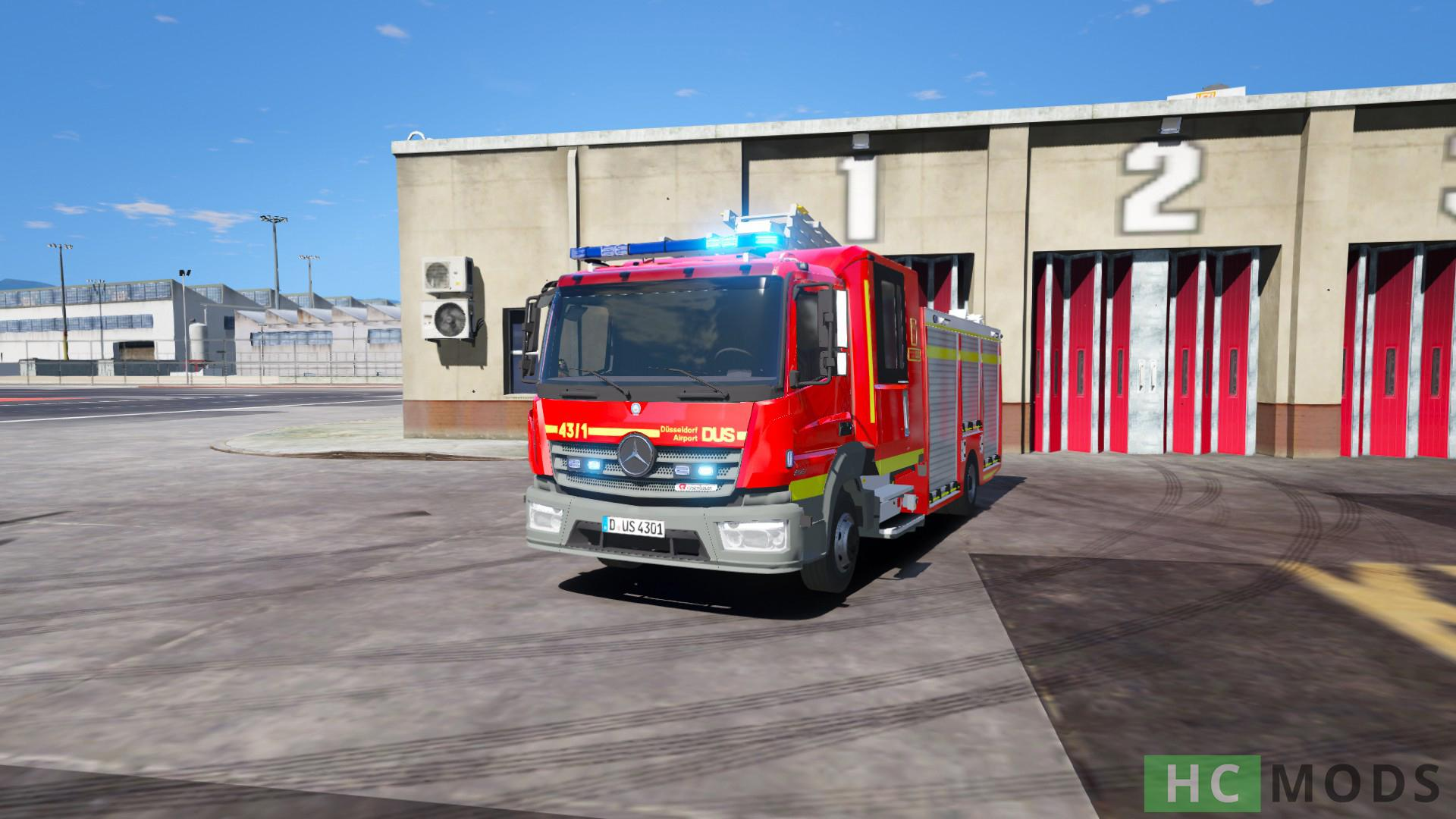 mercedes benz atego flughafenfeuerwehr d sseldorf fiktiv gta5. Black Bedroom Furniture Sets. Home Design Ideas