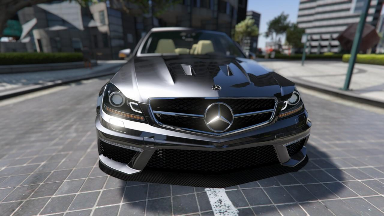 mercedes benz c63 amg 2013 add on templated gta5. Black Bedroom Furniture Sets. Home Design Ideas