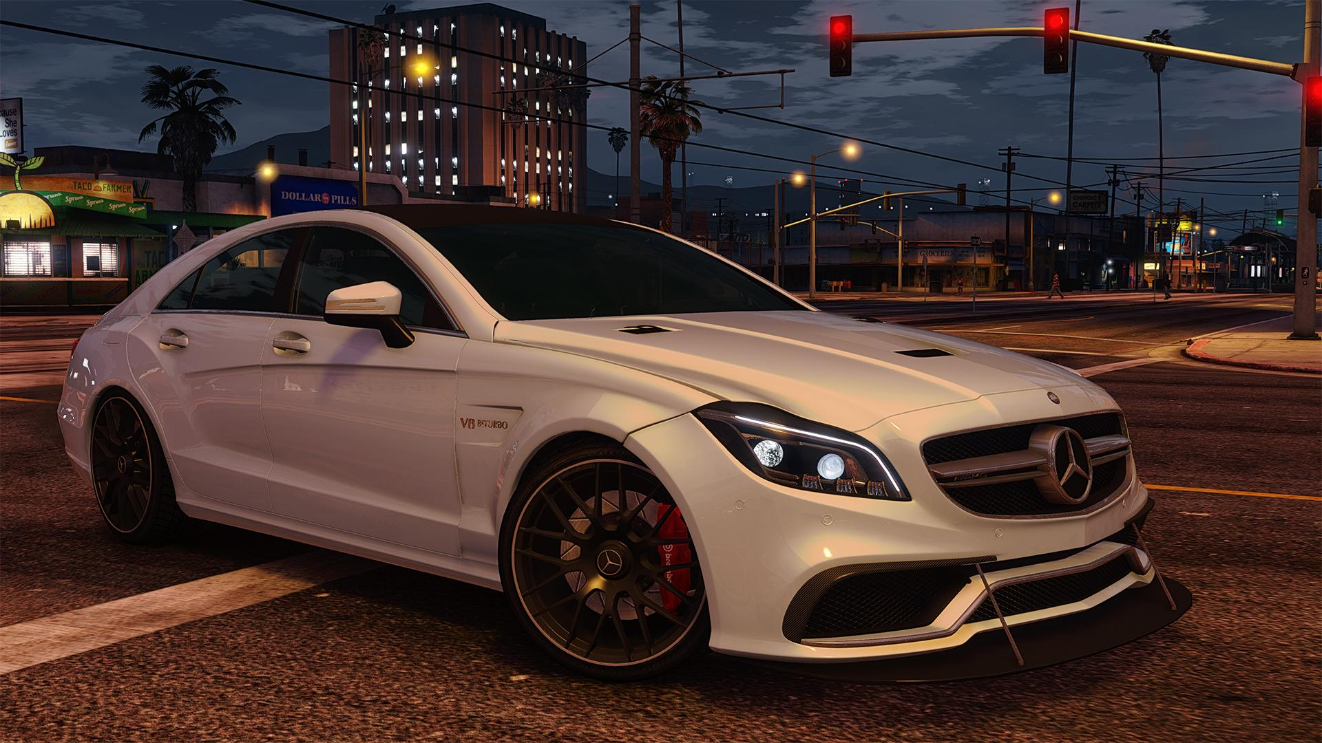 mercedes benz cls 6 3 amg 2015 add on gta5. Black Bedroom Furniture Sets. Home Design Ideas