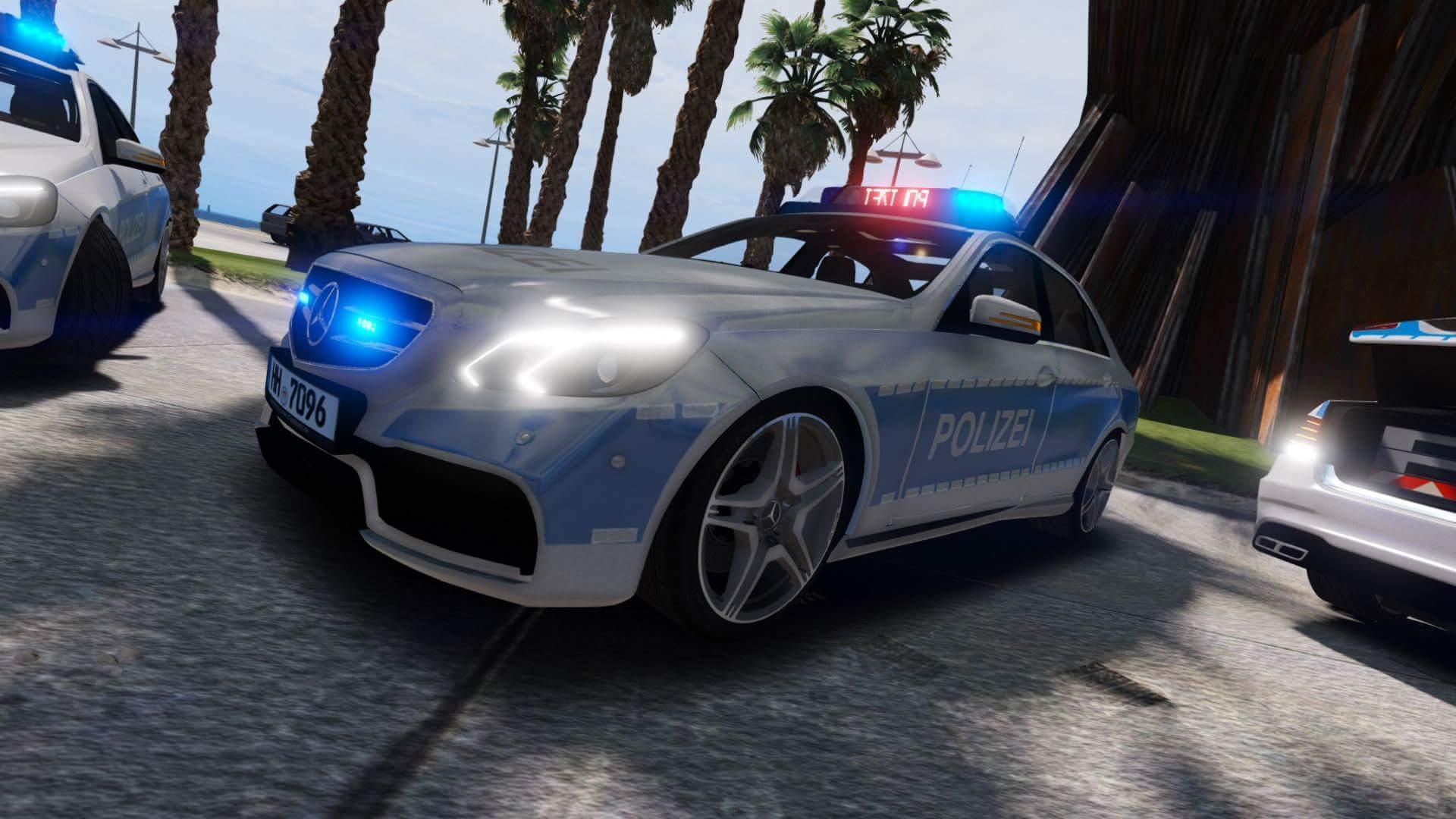 mercedes benz e klasse limousine polizei hamburg els gta5. Black Bedroom Furniture Sets. Home Design Ideas