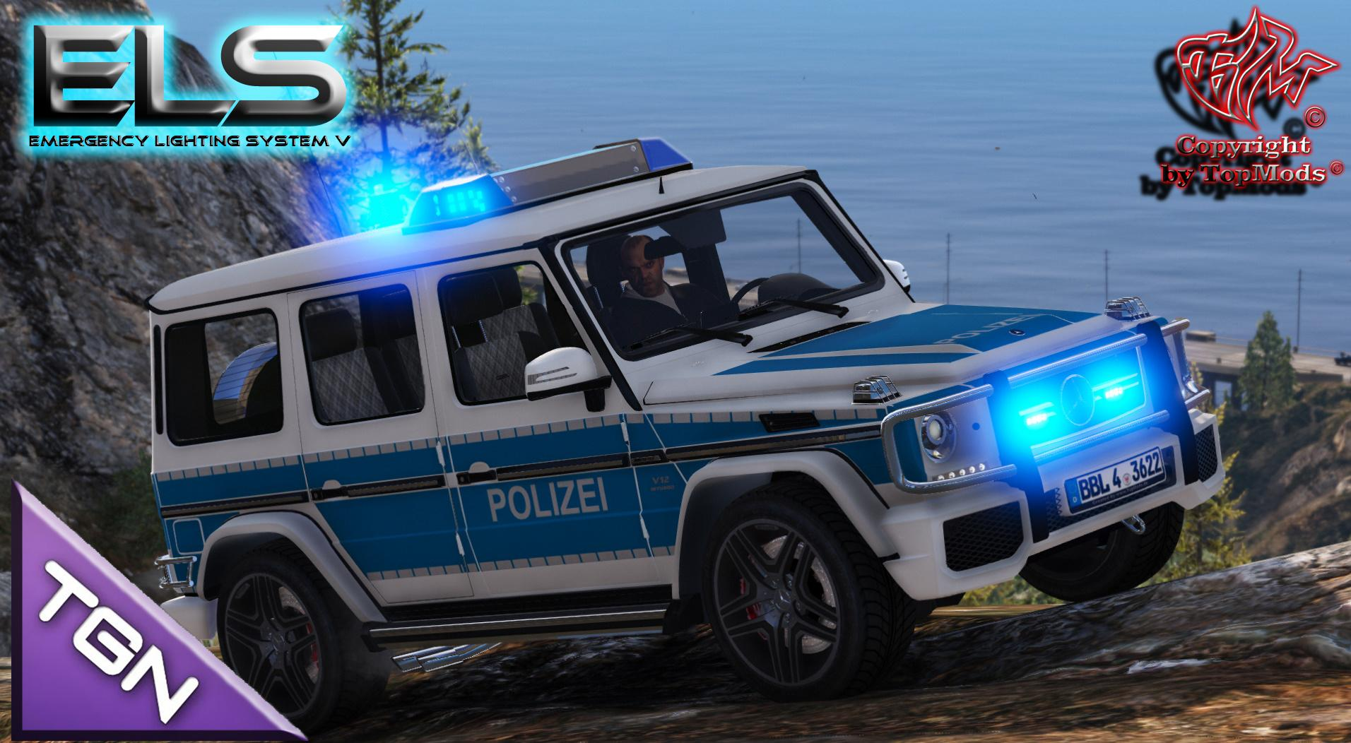 mercedes benz g klasse polizei brandenburg els gta5. Black Bedroom Furniture Sets. Home Design Ideas