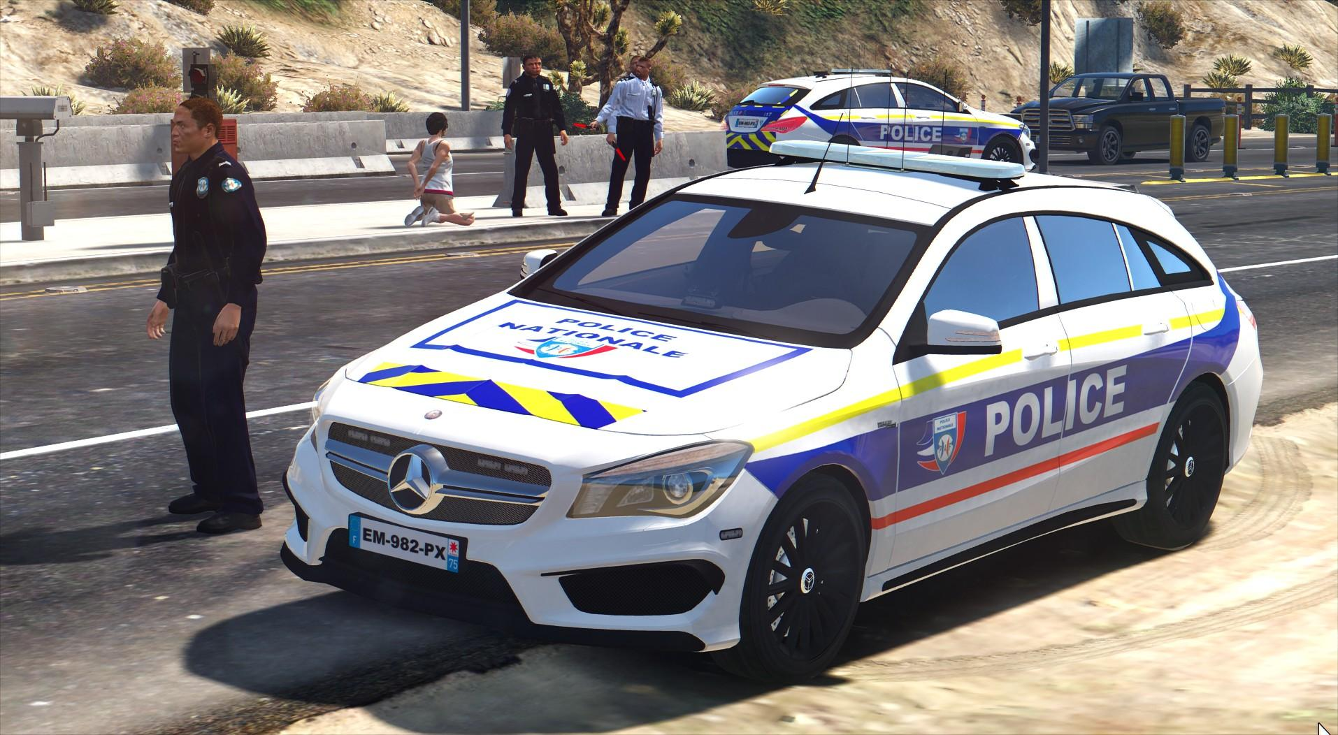 mercedes benz police nationale gta5. Black Bedroom Furniture Sets. Home Design Ideas