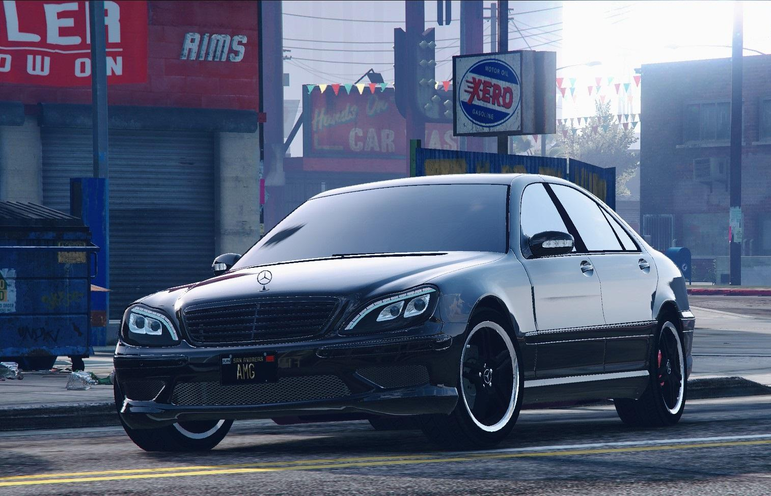 mercedes benz s600 w220 tunable amg pack add on gta5. Black Bedroom Furniture Sets. Home Design Ideas