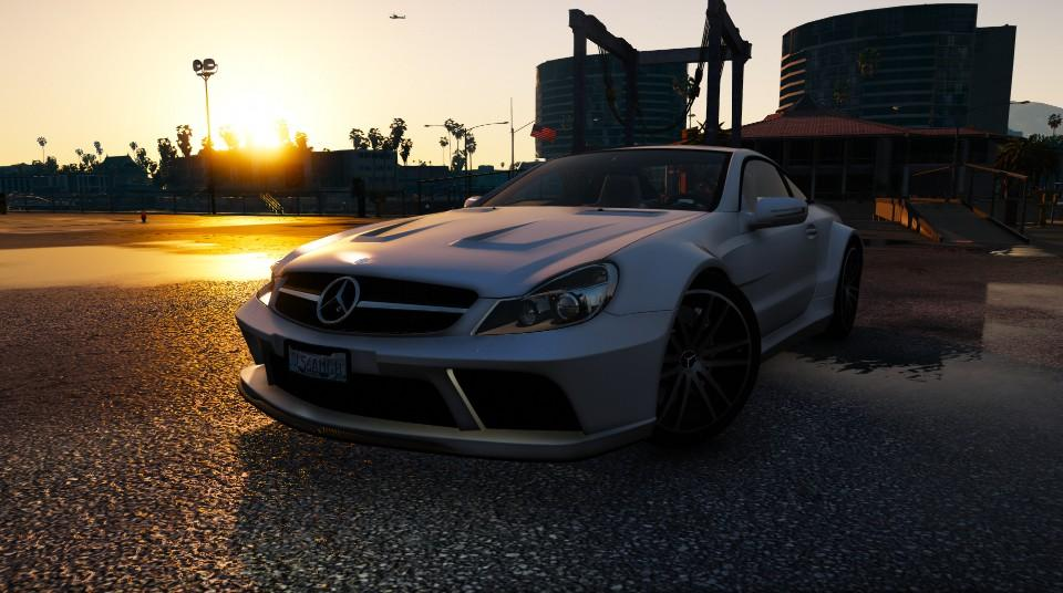 Mercedes benz sl65 amg black series r230 2009 hq add on for Mercedes benz sl65 amg black series price