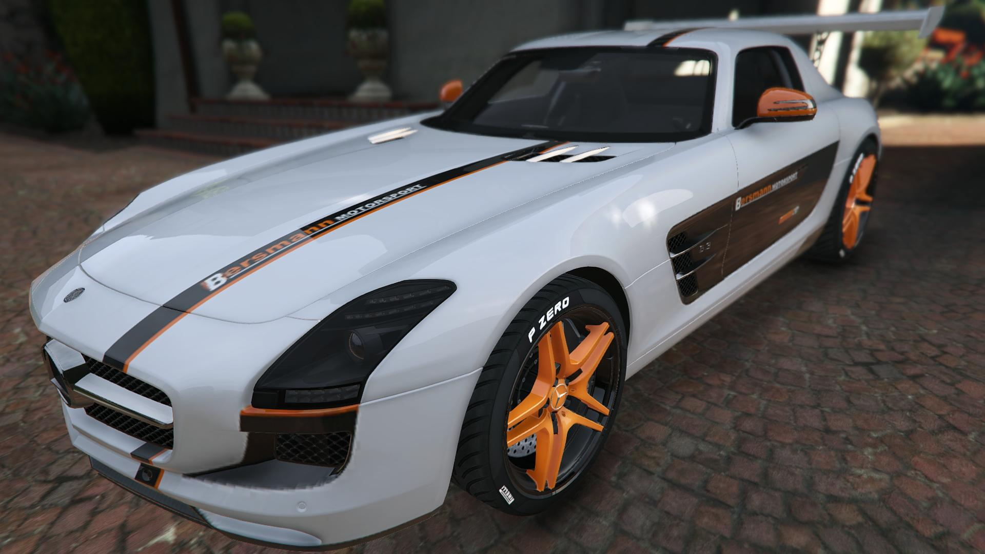 Mercedes benz sls amg coupe gta5 for Mercedes benz mods